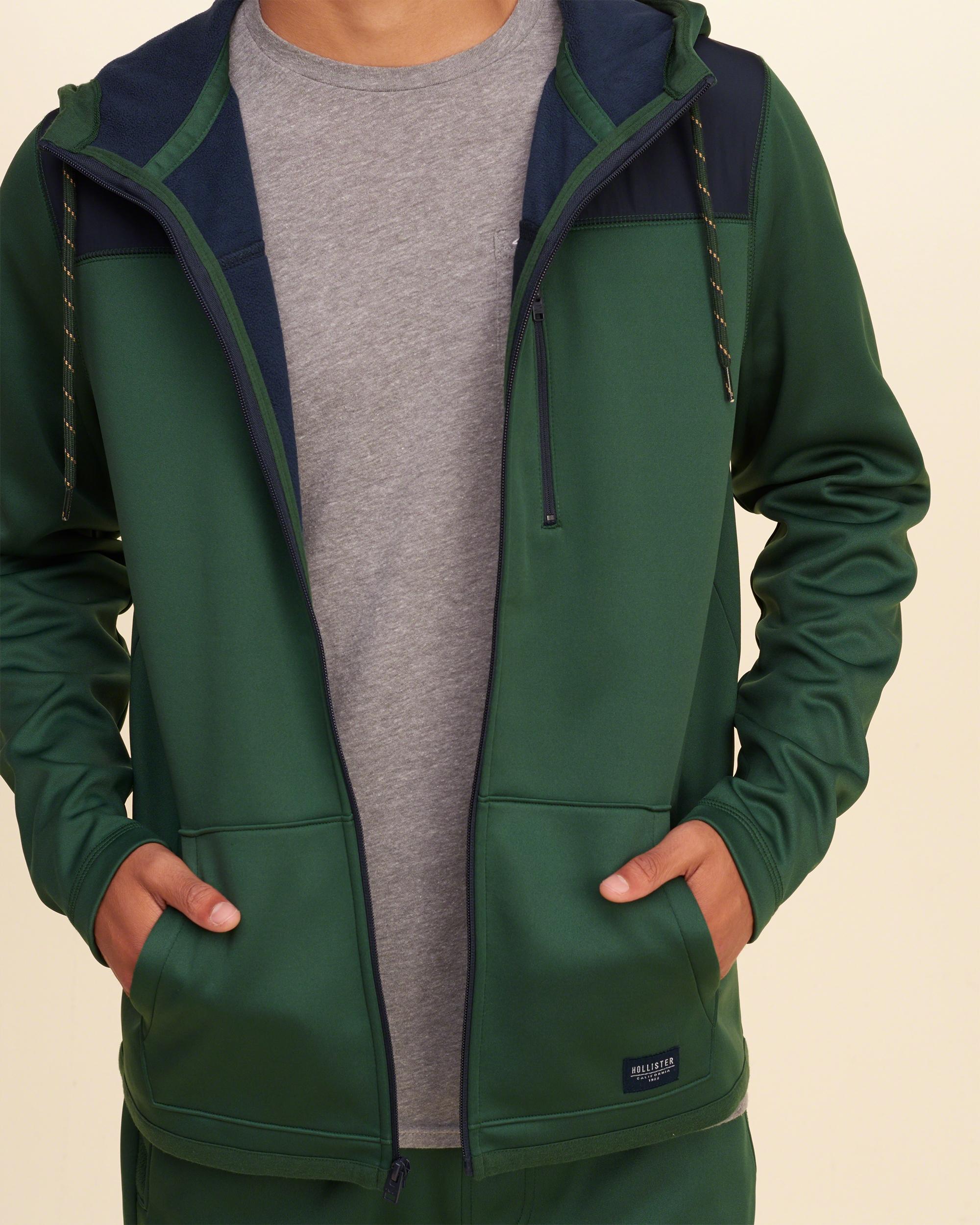 Green hollister hoodie