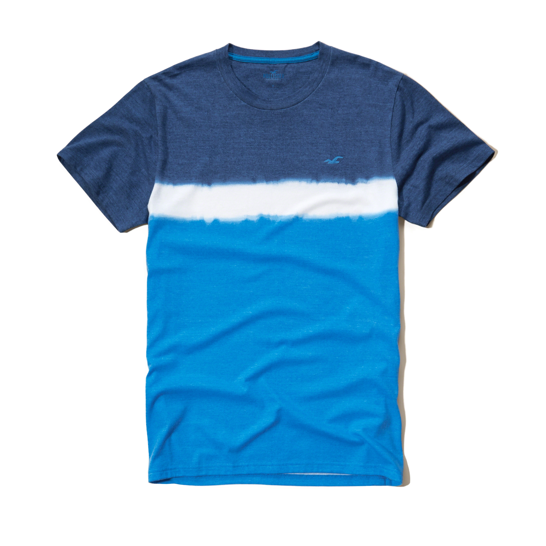 Hollister Dip Dye Crew T-shirt for Men | Lyst