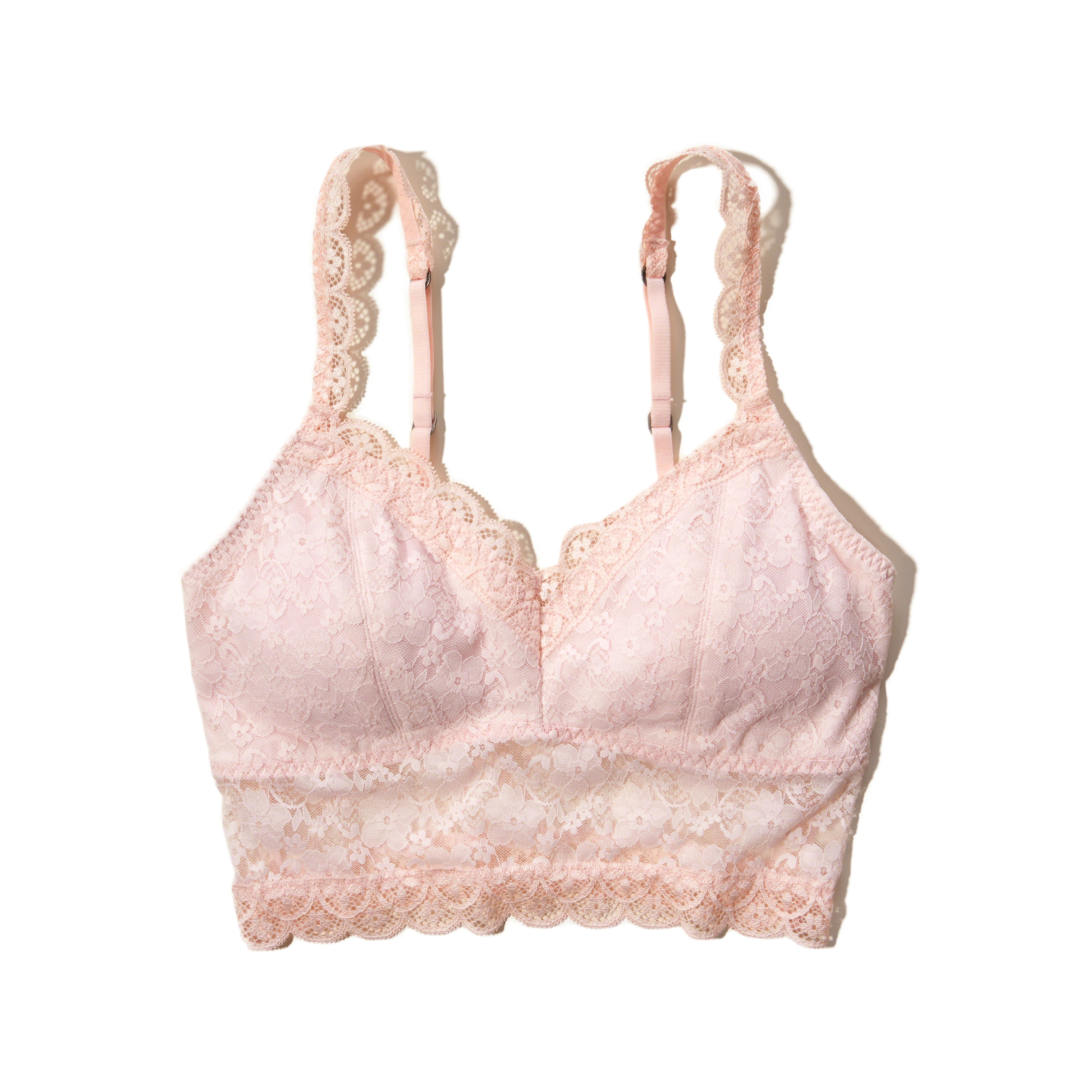 c0b29703a33839 Lyst - Hollister Gilly Hicks Removable-pads Lined Lace Bralette