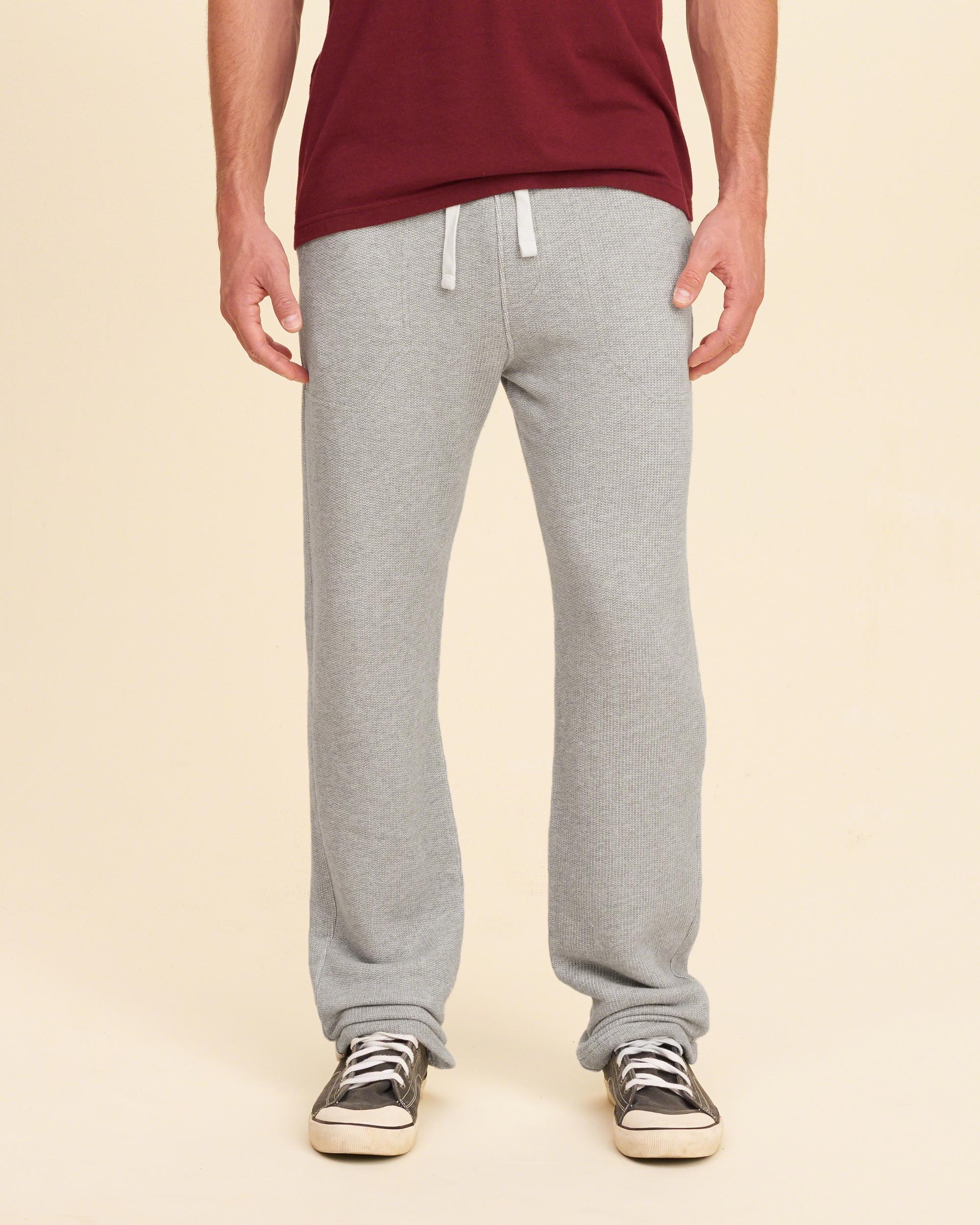 Lyst Hollister Contrast Straight Leg Sweatpants In Gray