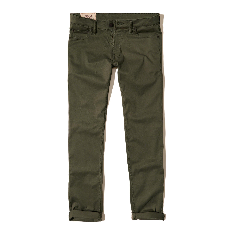Hollister Skinny 5-pocket Zipper Fly Pants for Men | Lyst