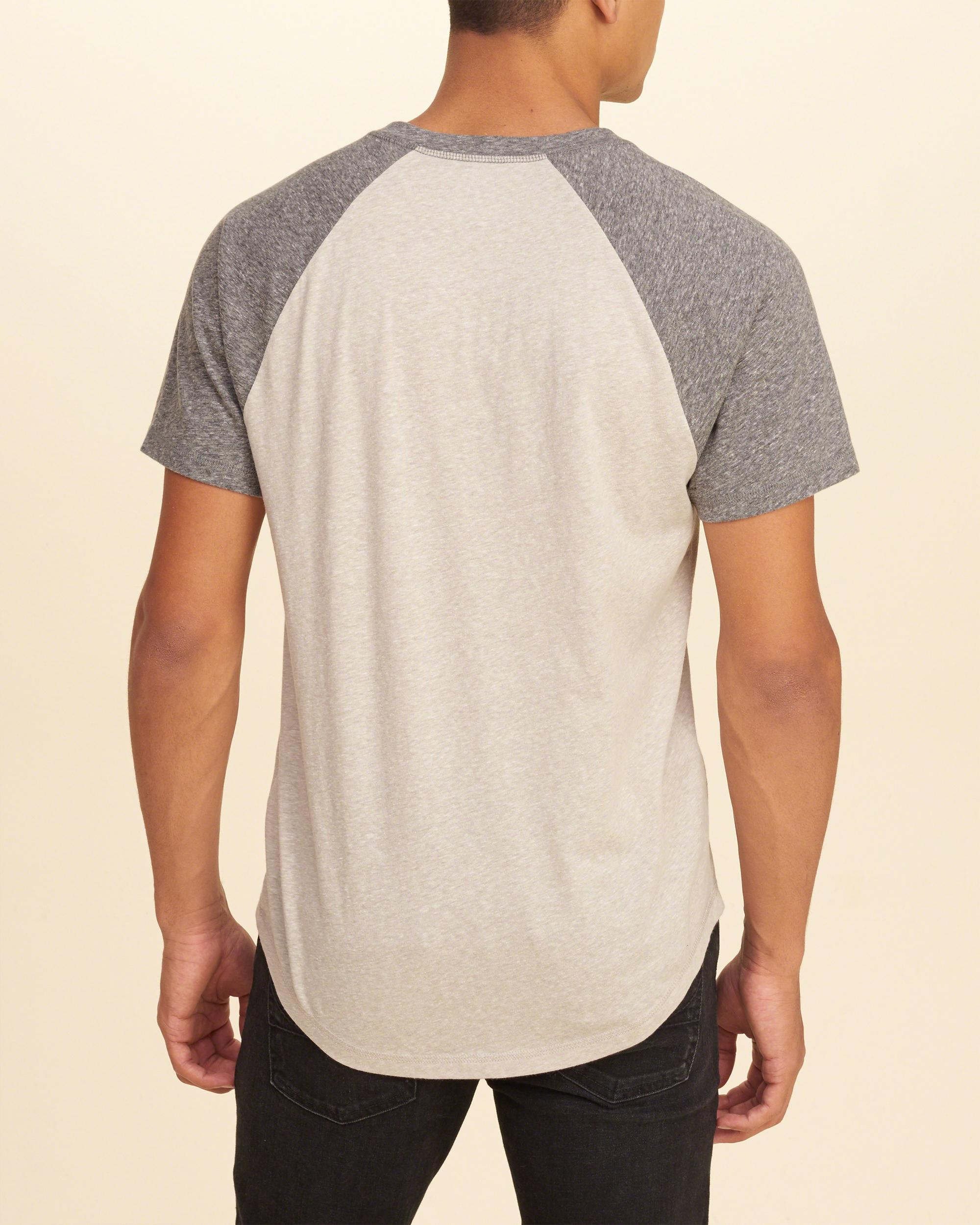 Lyst hollister must have colorblock henley in natural for Must have dress shirts
