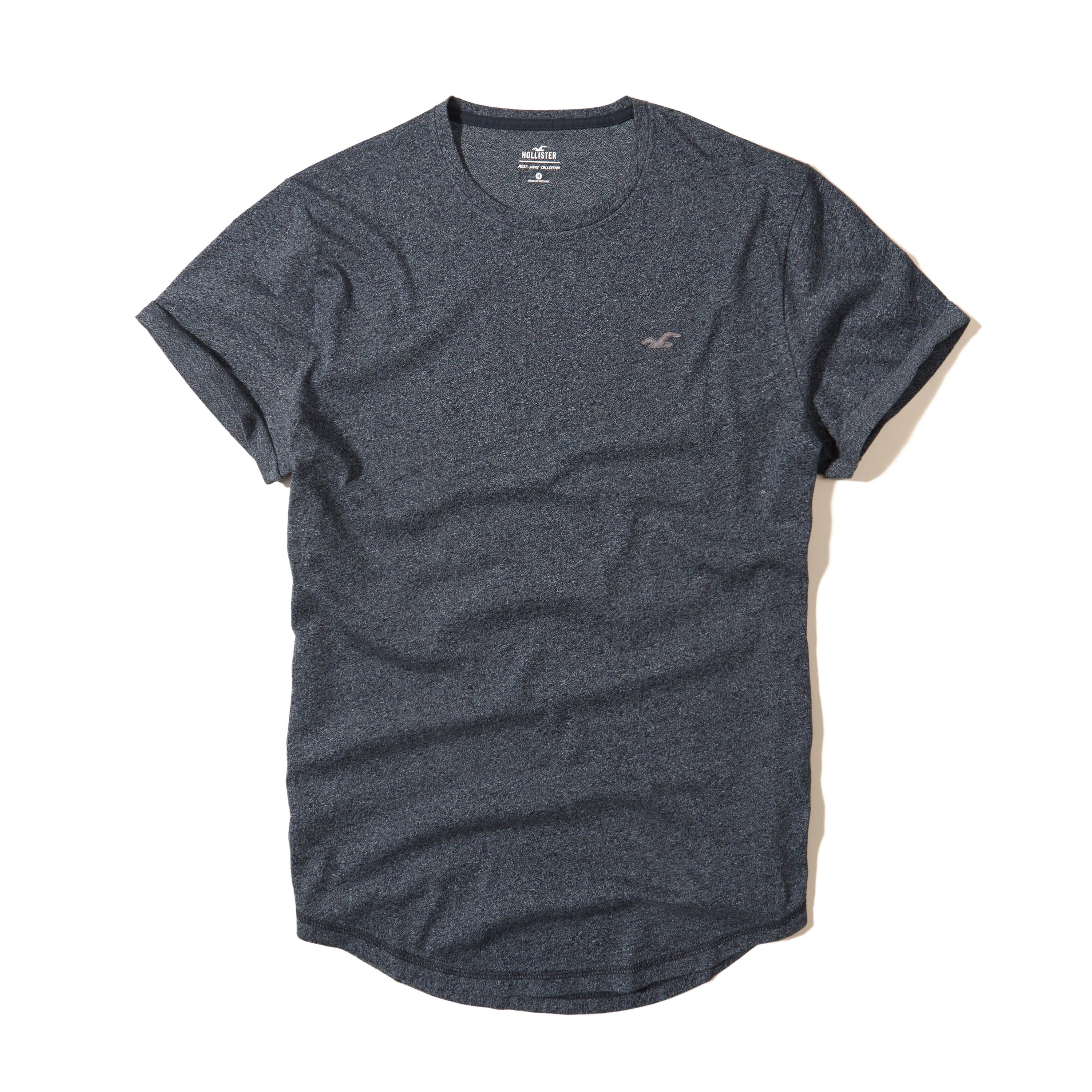 Hollister Must-have Rolled Cuff Crew T-shirt in Blue for ...