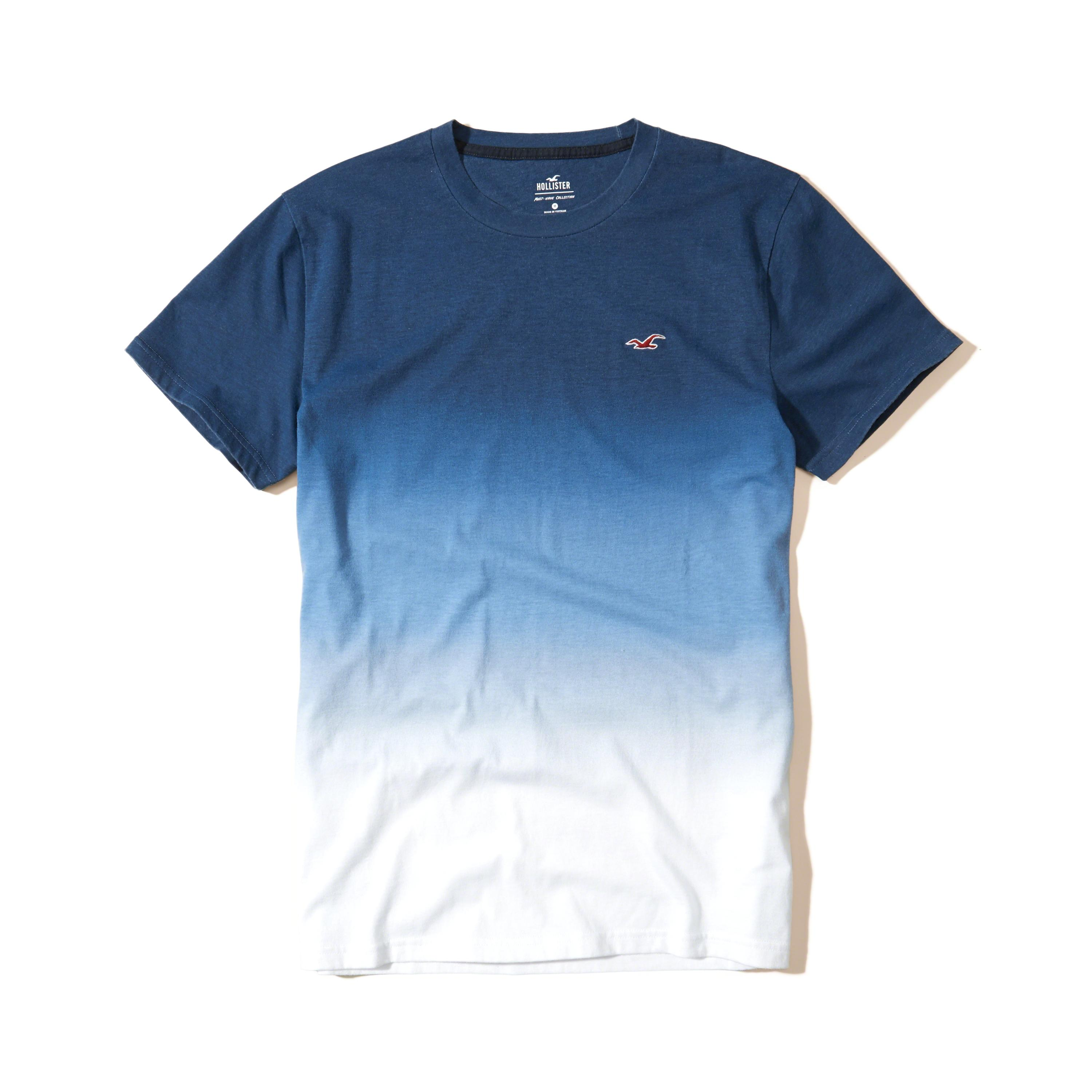 hollister must have ombre crew t shirt in blue for men lyst. Black Bedroom Furniture Sets. Home Design Ideas