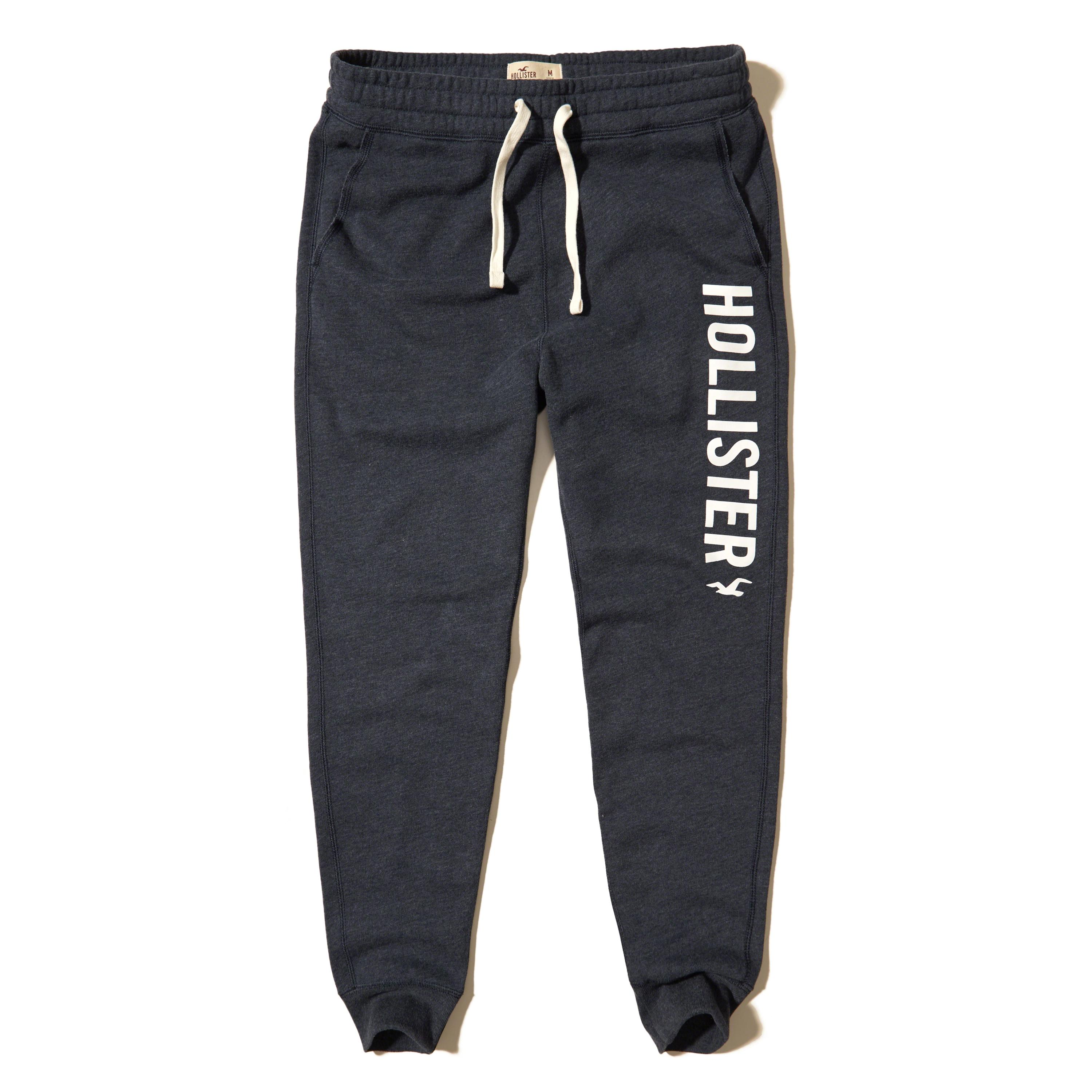 Hollister Graphic Skinny Fleece Jogger Pants in Blue for ...