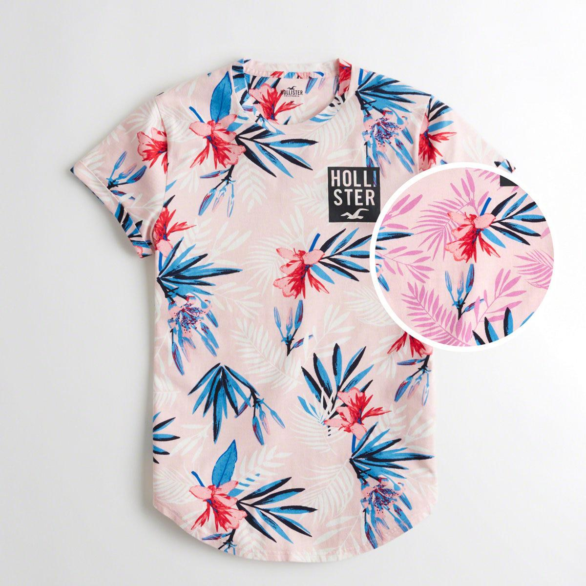 26e0d093 Lyst - Hollister Guys Tropical Print Logo Graphic Tee From Hollister ...