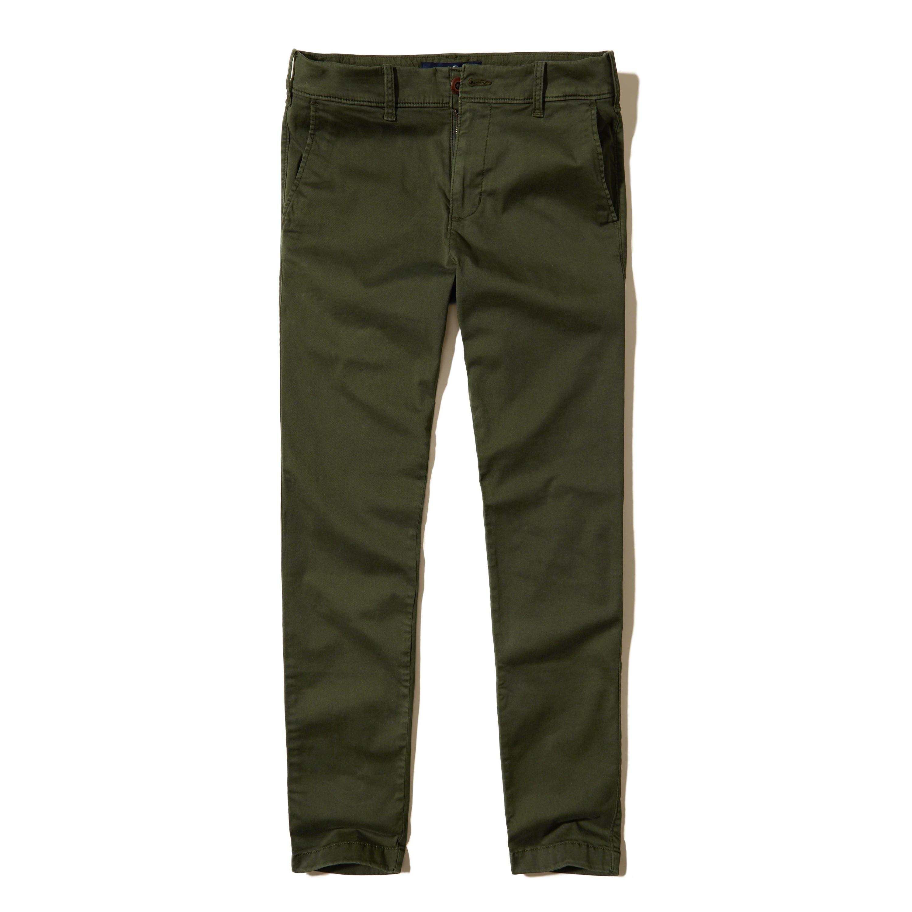 Lyst - Hollister Super Skinny Chino Pants in Green for Men