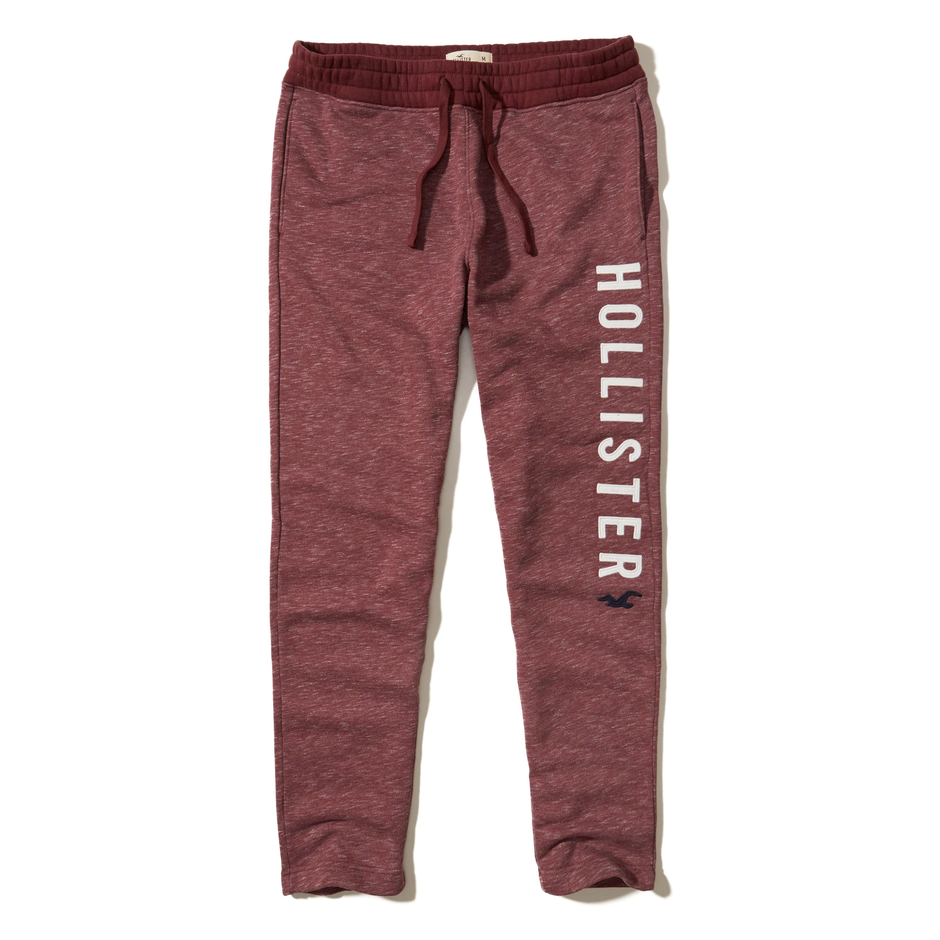 Lyst - Hollister Graphic Straight-leg Sweatpants in Red ...