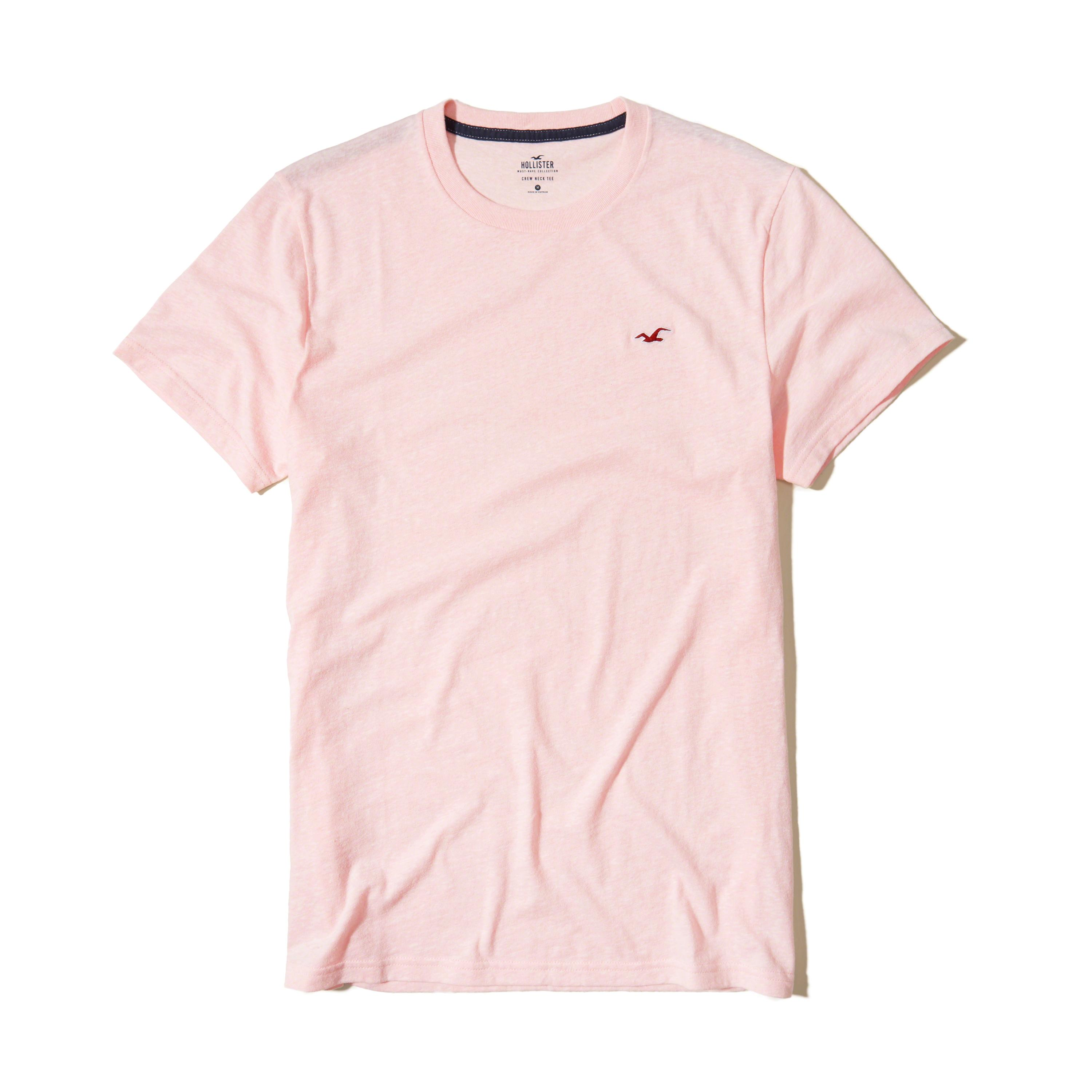 Lyst hollister must have crew t shirt in pink for men for Must have dress shirts