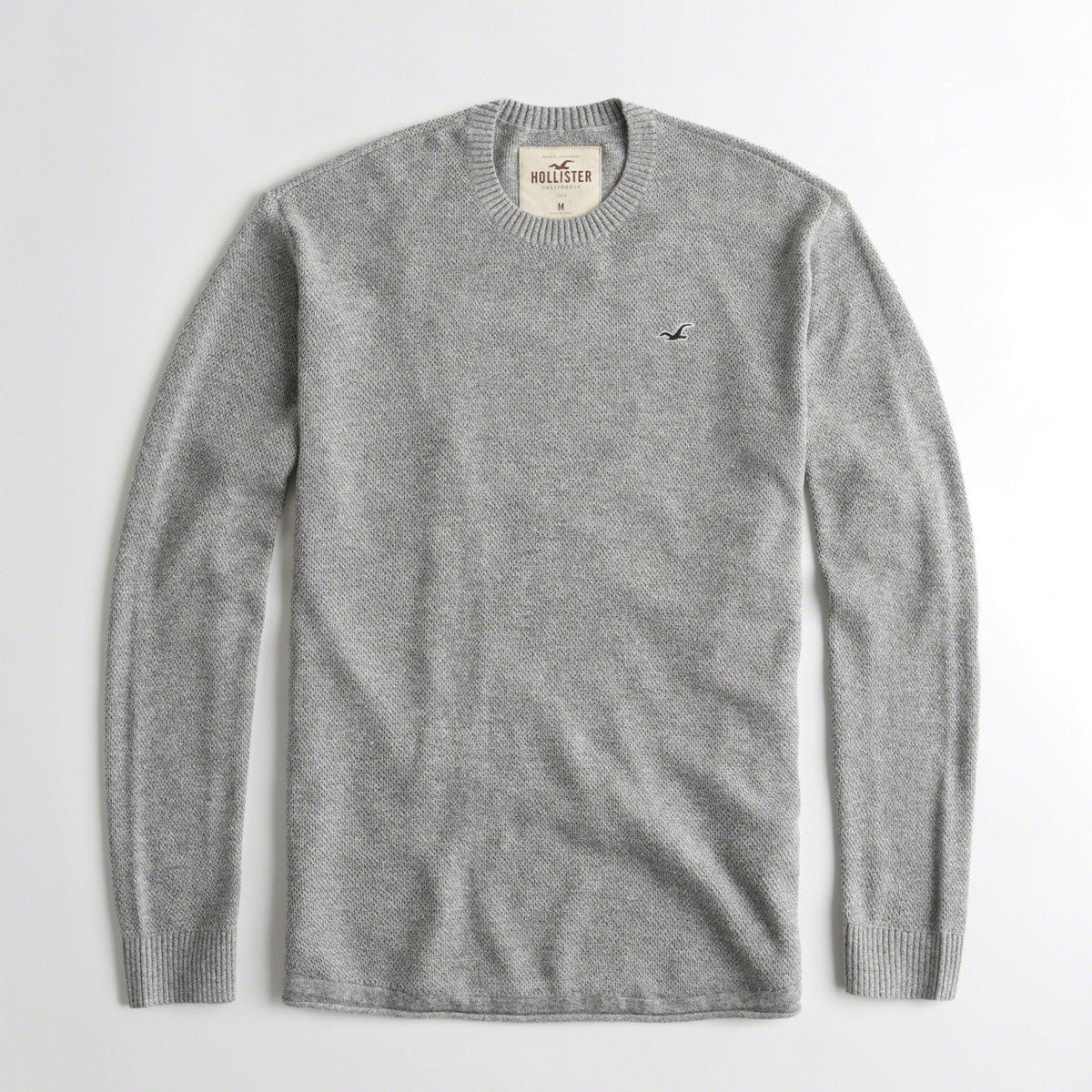 Hollister Oberbekleidung Returns Exchanges Hollister Pullover Hollister Hoodies Hollister Jeans: Hollister Cotton Guys Textured Curved Hem Sweater From