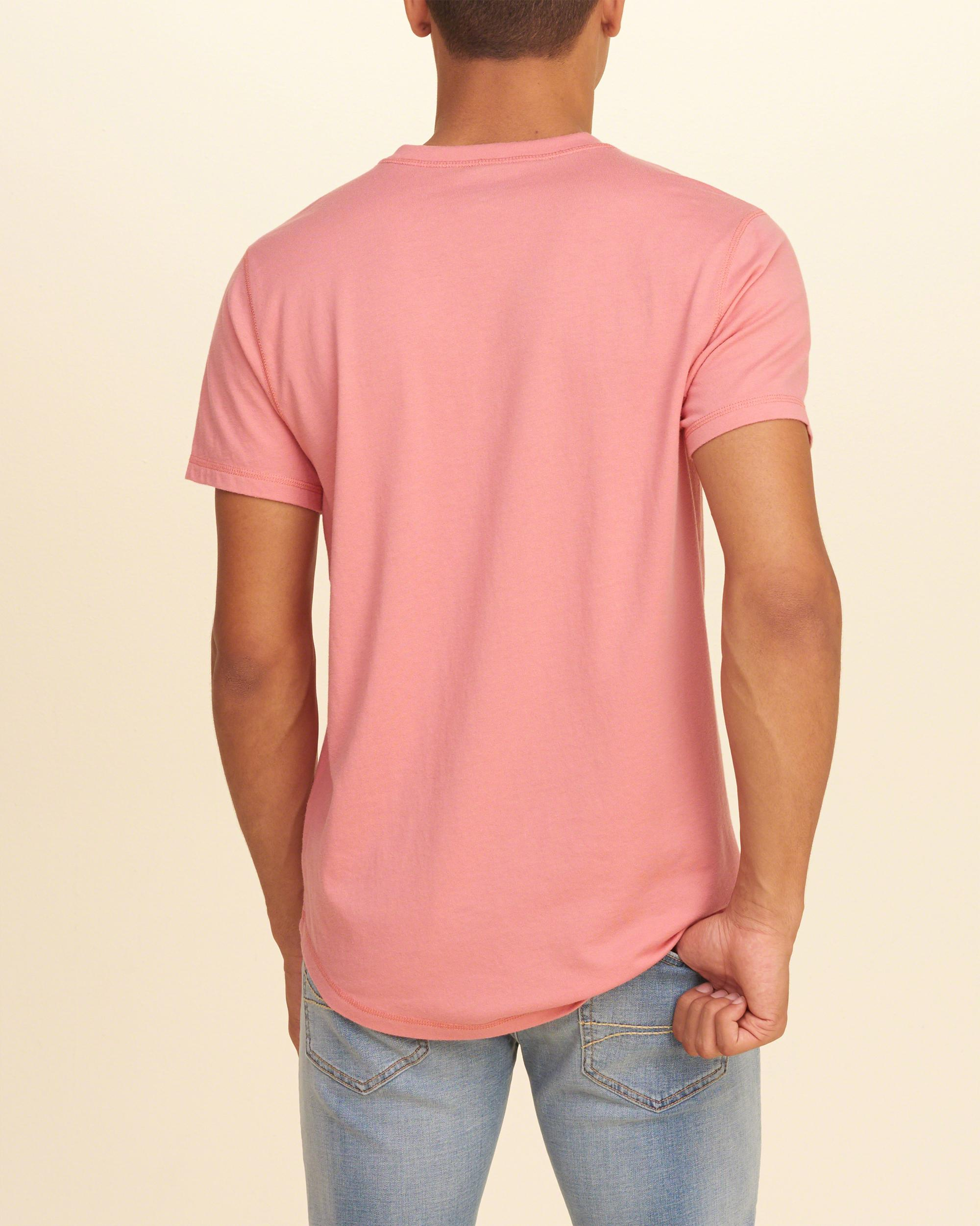 Hollister Cotton Must-have Henley in Pink for Men