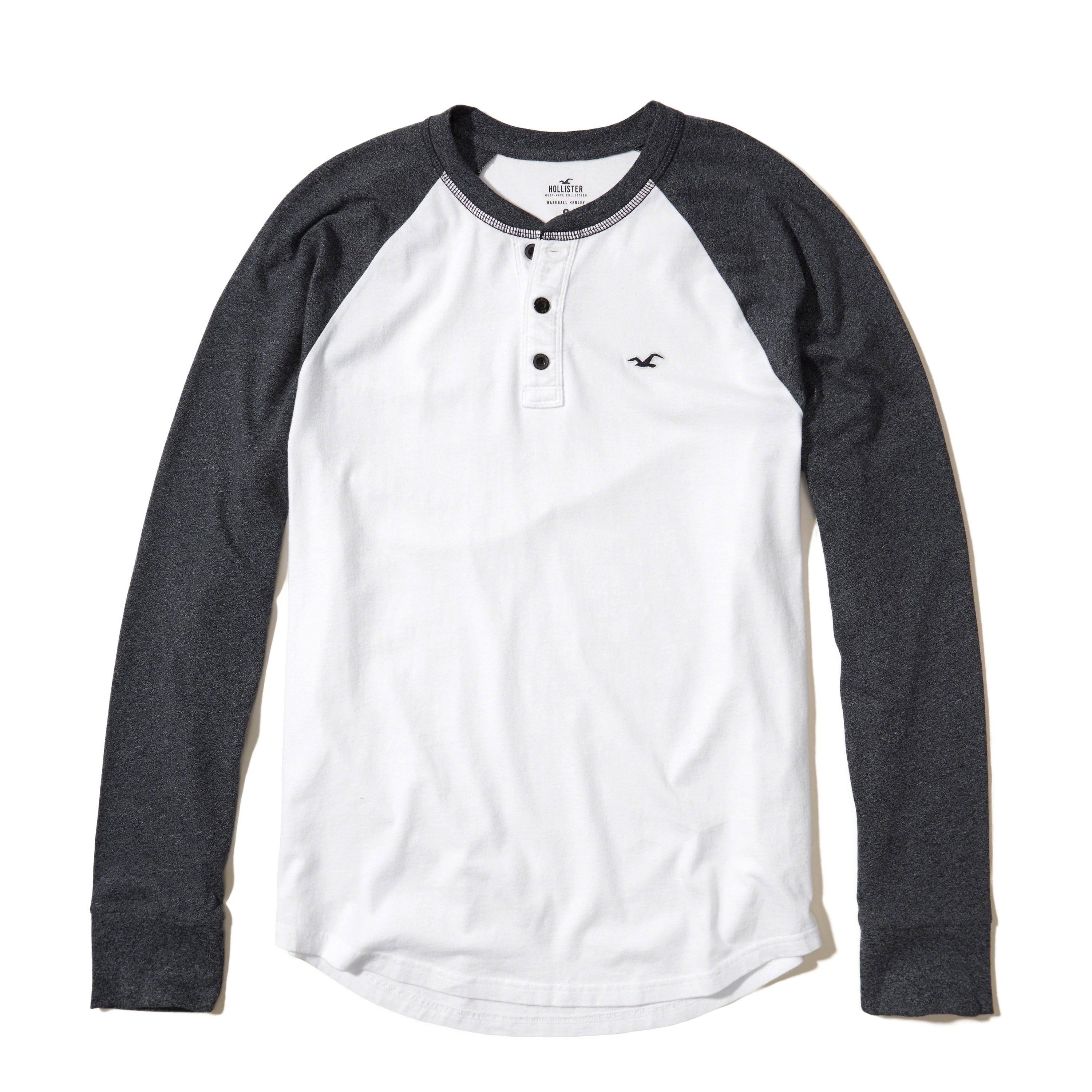Lyst hollister must have raglan henley in white for men for Must have dress shirts
