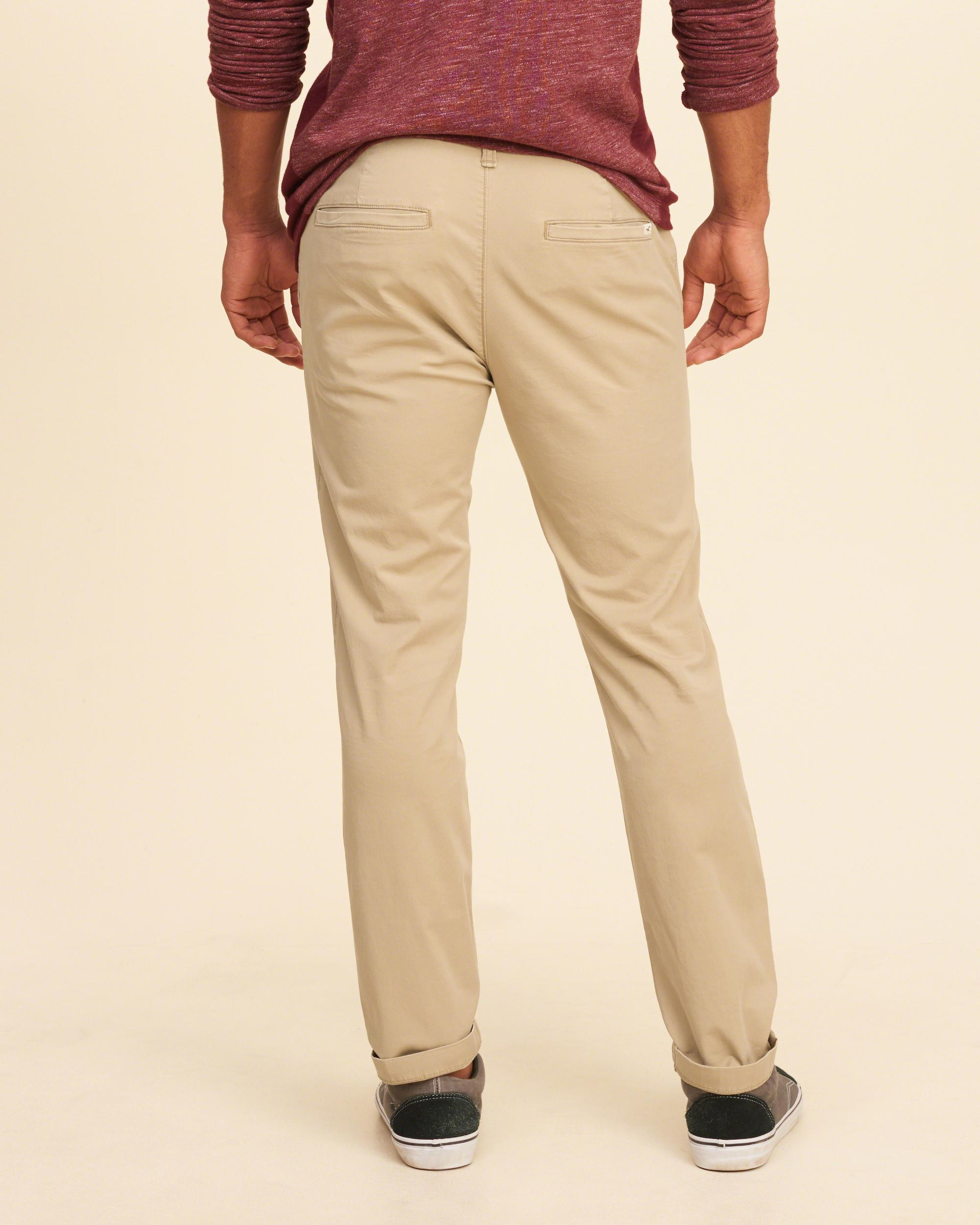 Hollister Cotton Skinny Chinos in Light Khaki (Natural) for Men
