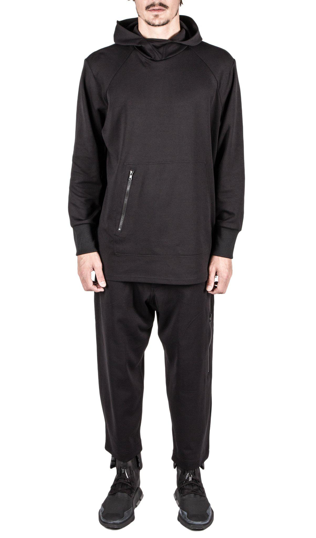 Y-3 Cotton Track Sweater in Black for Men