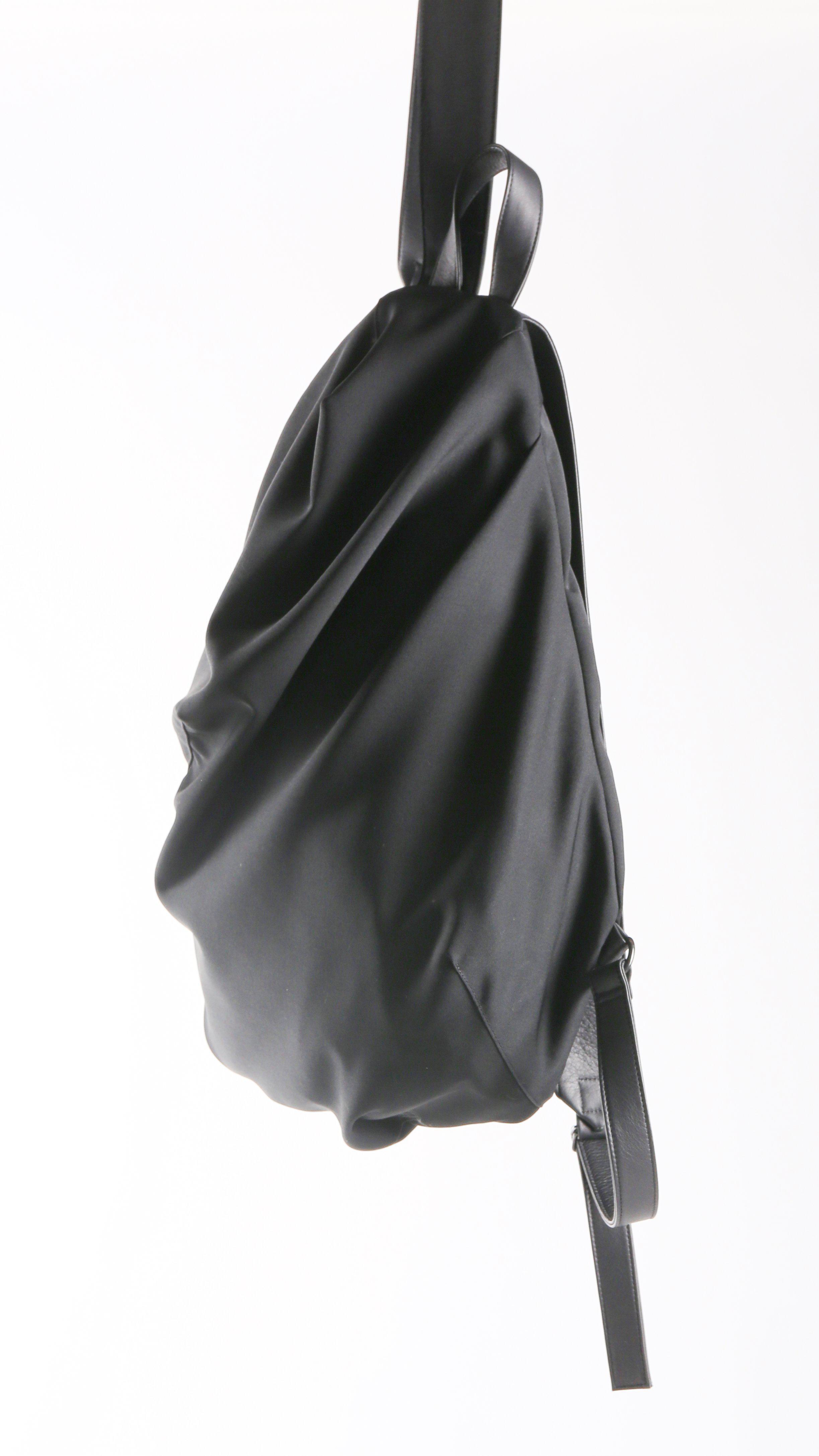 Lyst - Yohji Yamamoto Darts Drape Rucksac Backpack in Black 90513cc0a3