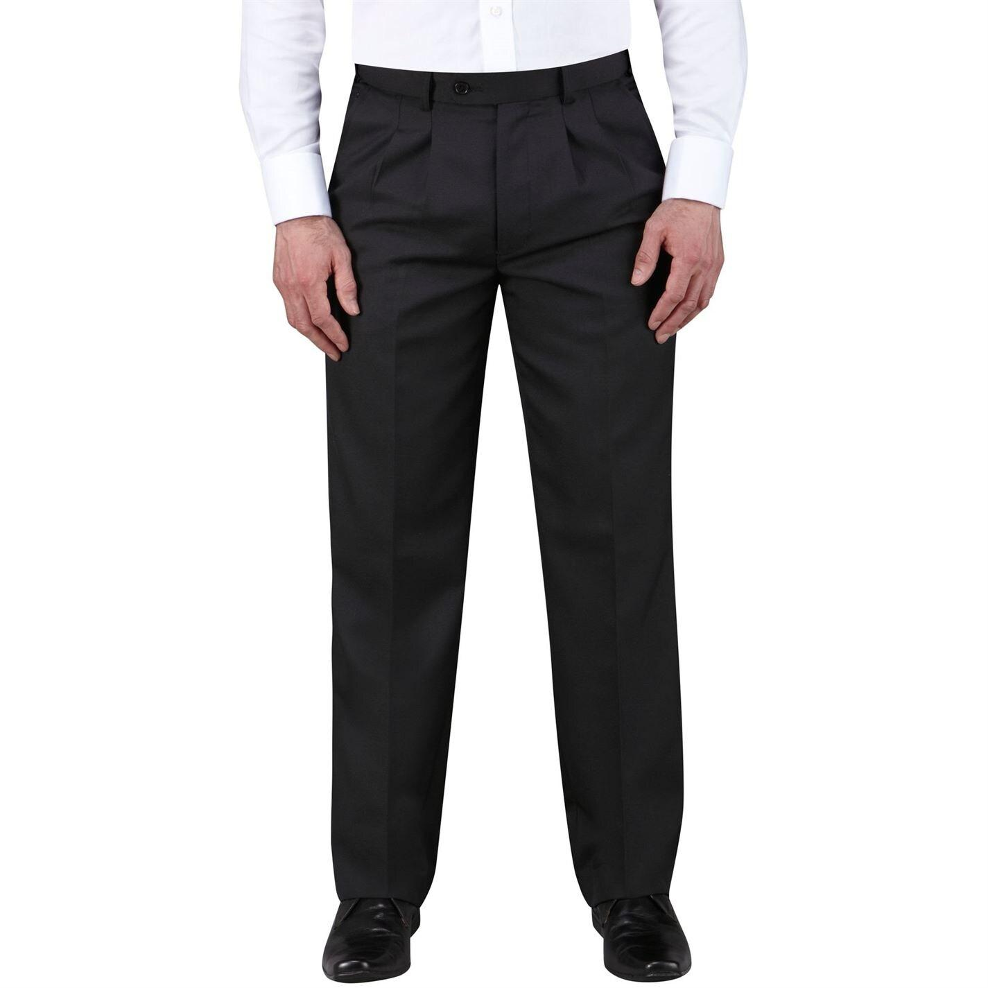 Skopes Waterford Loose Fit Tailored Trousers in Black for Men