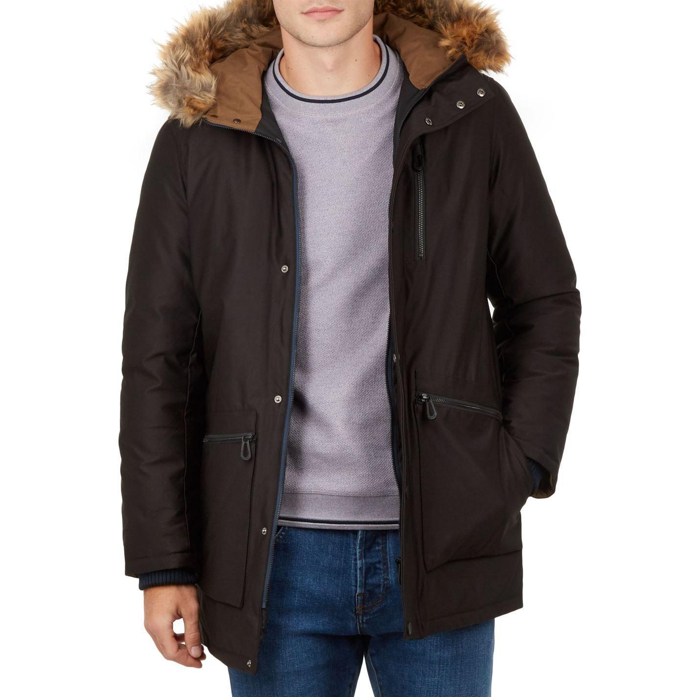 00598ca1408 Men's Black Gouda Parka Jacket