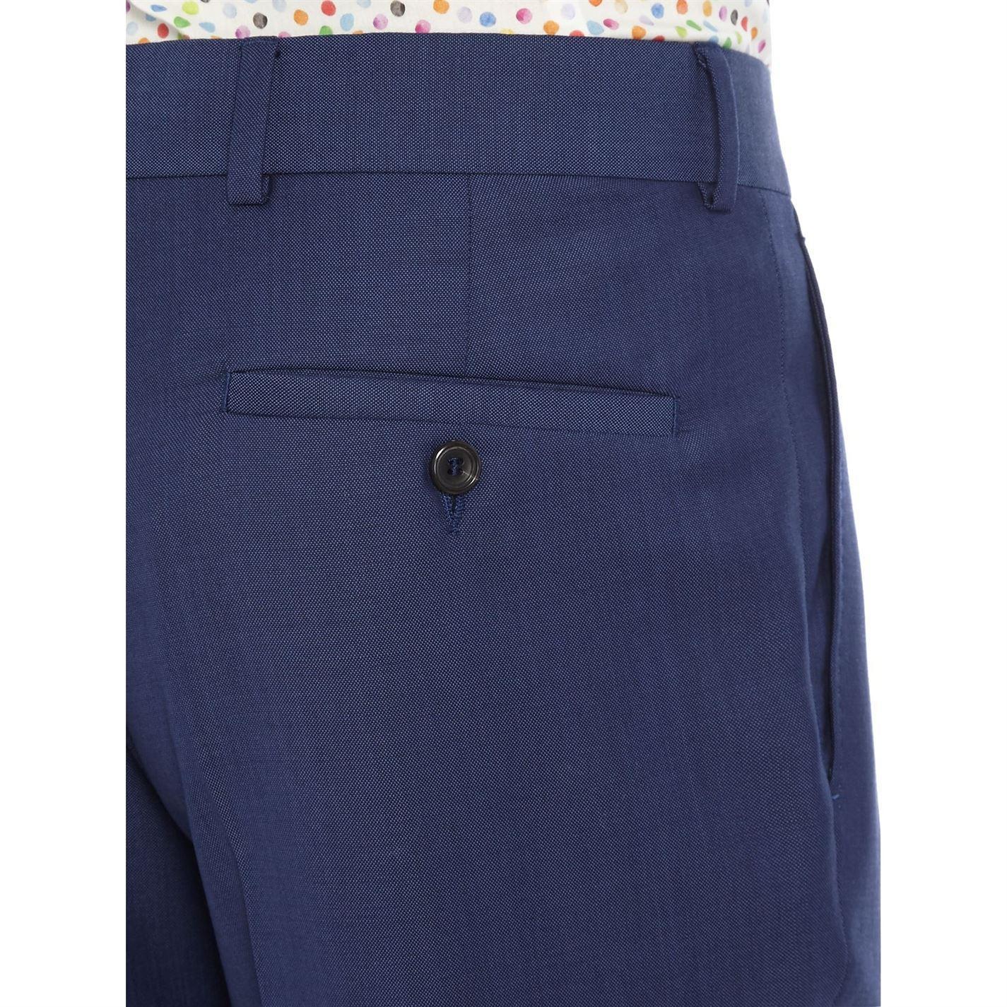 Simon Carter Wool Tonic Croker Suit Trouser in Blue for Men