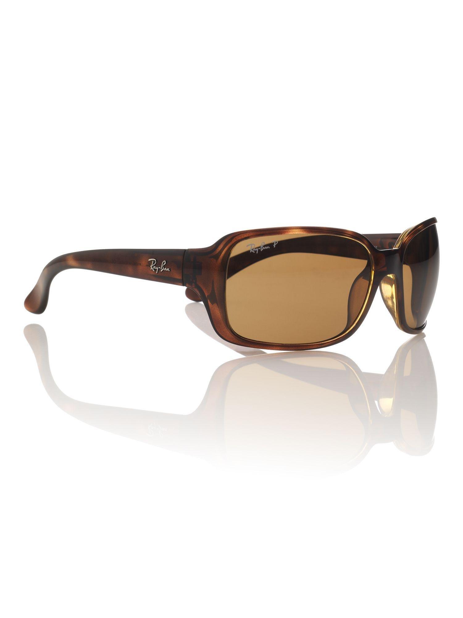 ray-ban unisex rb4068 square sunglasses