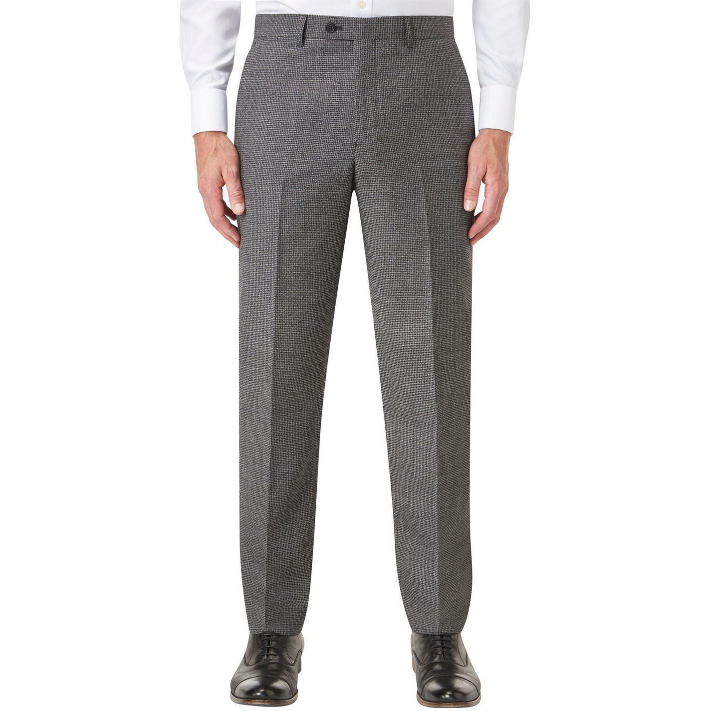 Skopes Braeaside Wool Blend Suit Trouser in Charcoal (Grey) for Men