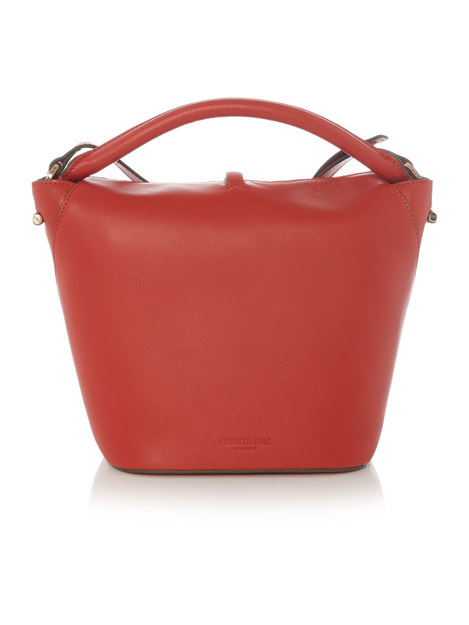 Kenneth Cole Leather Red Small Flapover Crossbody