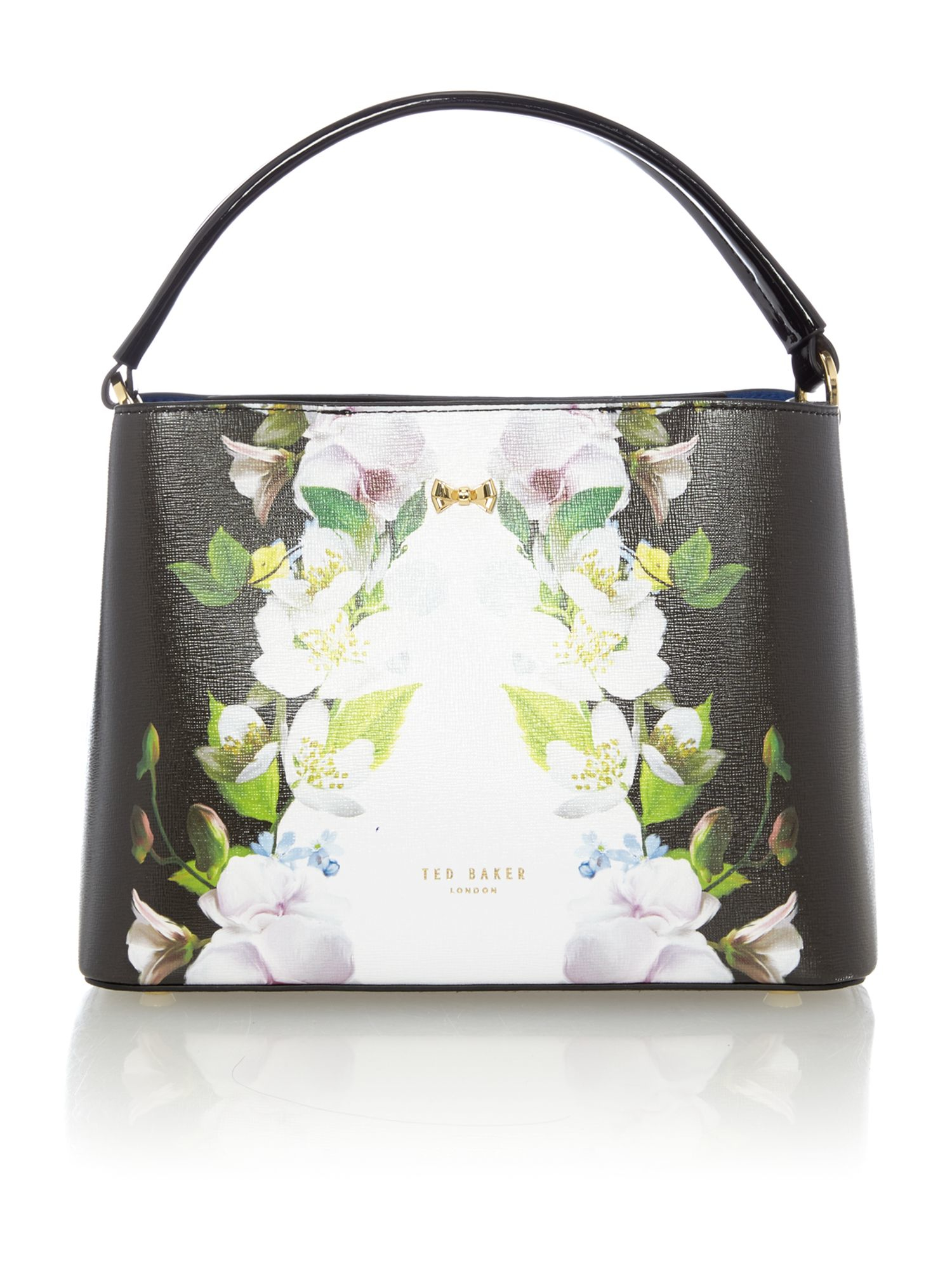 Ted Baker Baila Black Floral Small Tote Bag In Black | Lyst