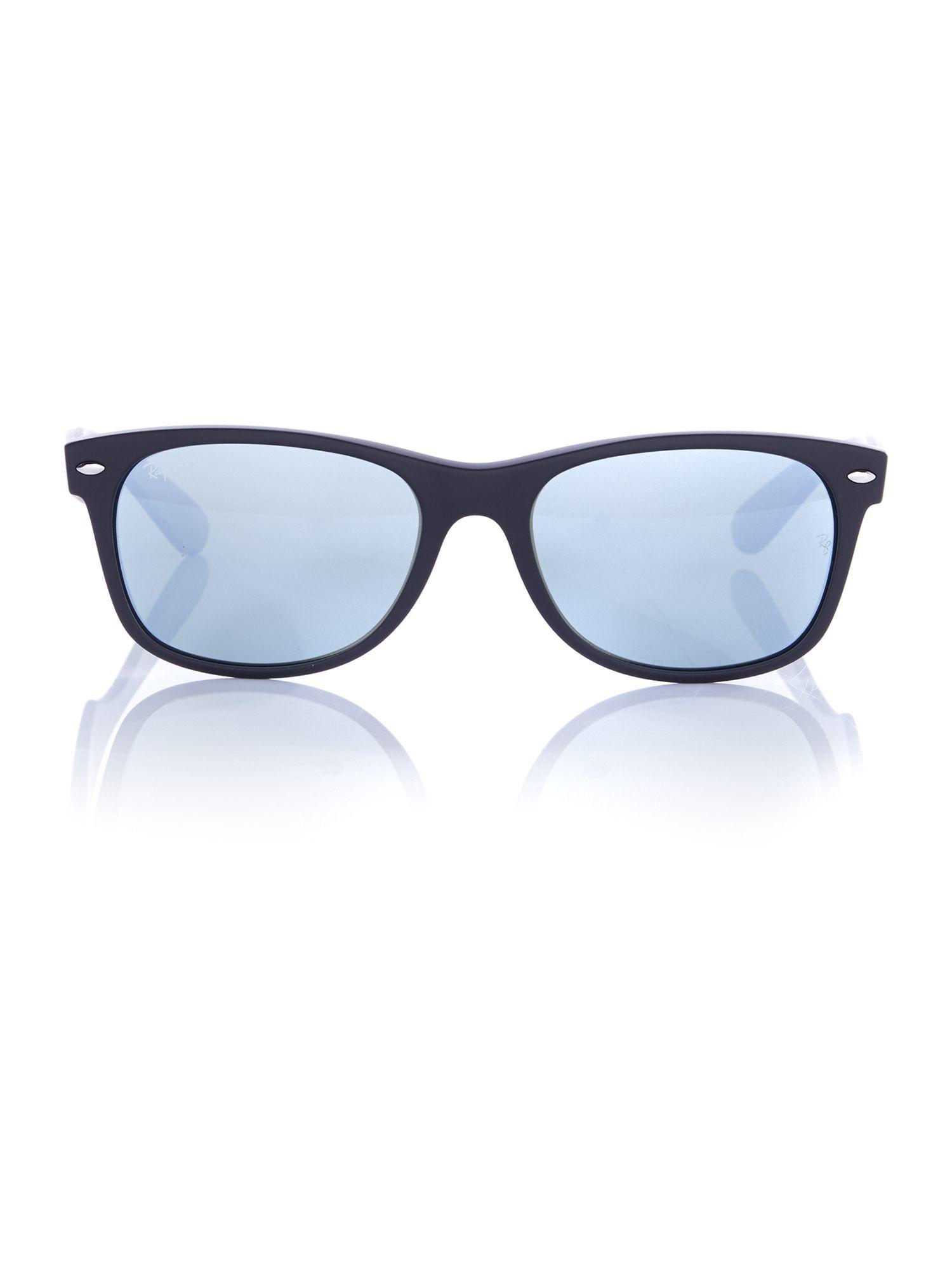 ray ban 0rb2132 new wayfarer sunglasses in blue for men lyst. Black Bedroom Furniture Sets. Home Design Ideas