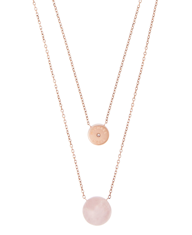 Lyst michael kors mkj5476791 ladies necklace for Michael b s jewelry
