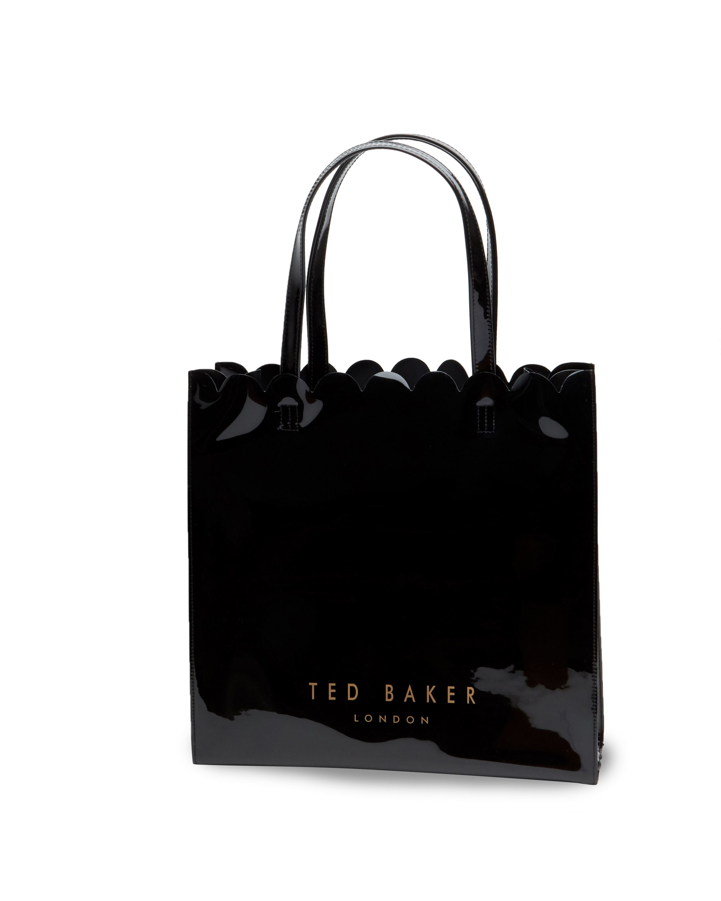 fb4e8a8c52 Ted Baker Scalcon Large Bow Detail Shopper Bag in Black - Lyst