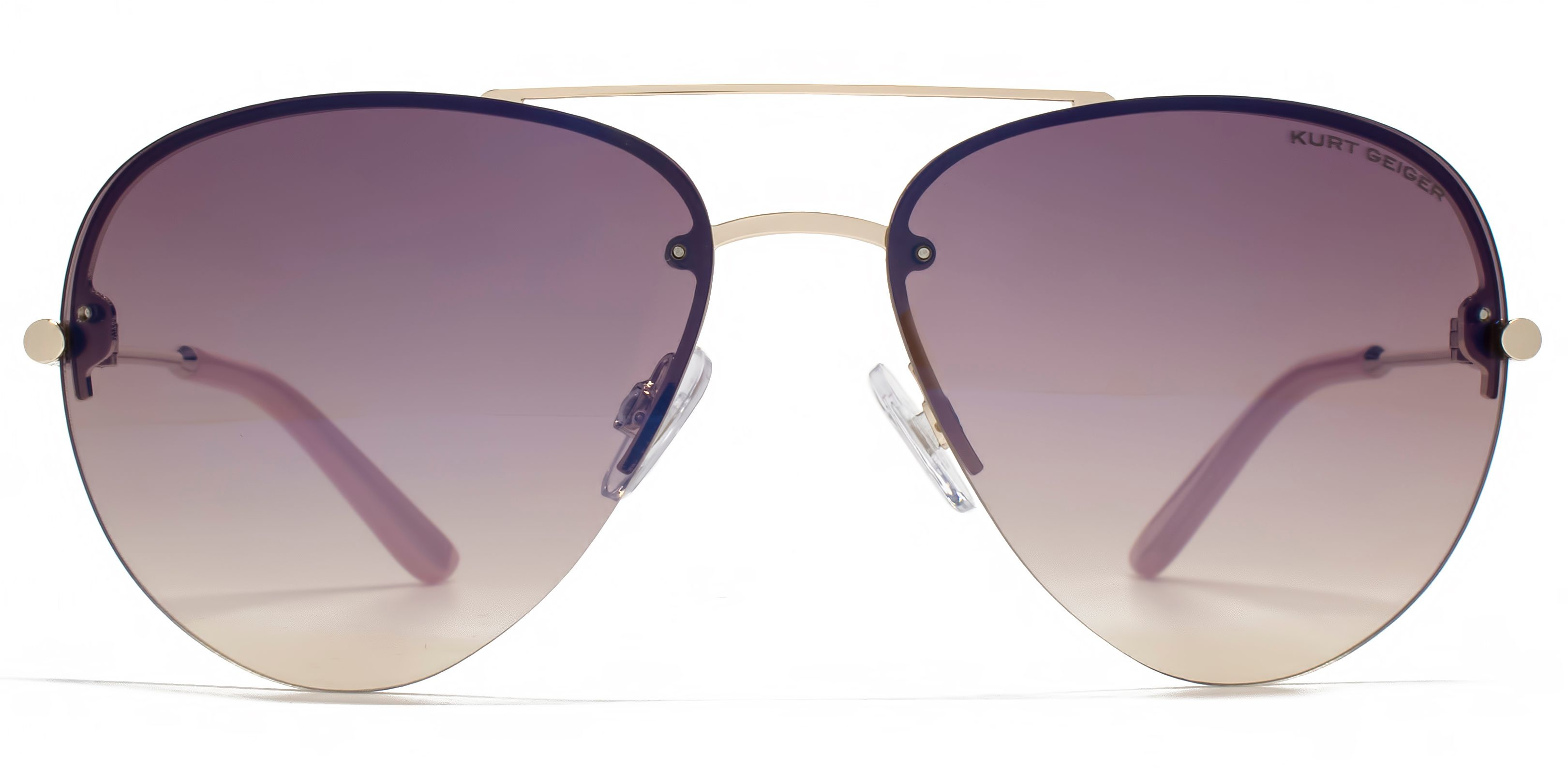 Kurt Geiger 26kgl031 Gold Aviator Sunglasses in Metallic