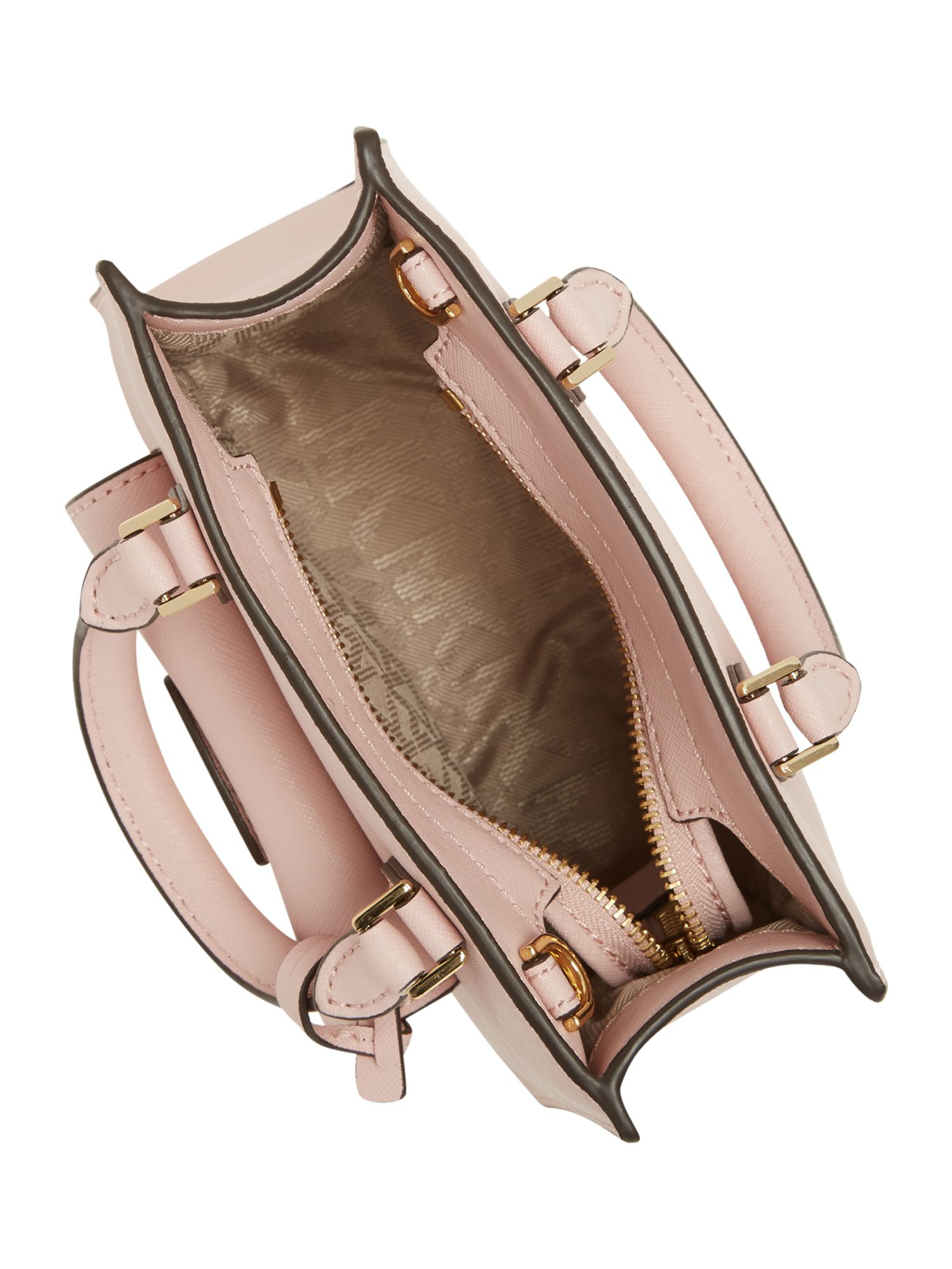 Michael Kors Leather Bridgette Pink Small Cross Body Bag