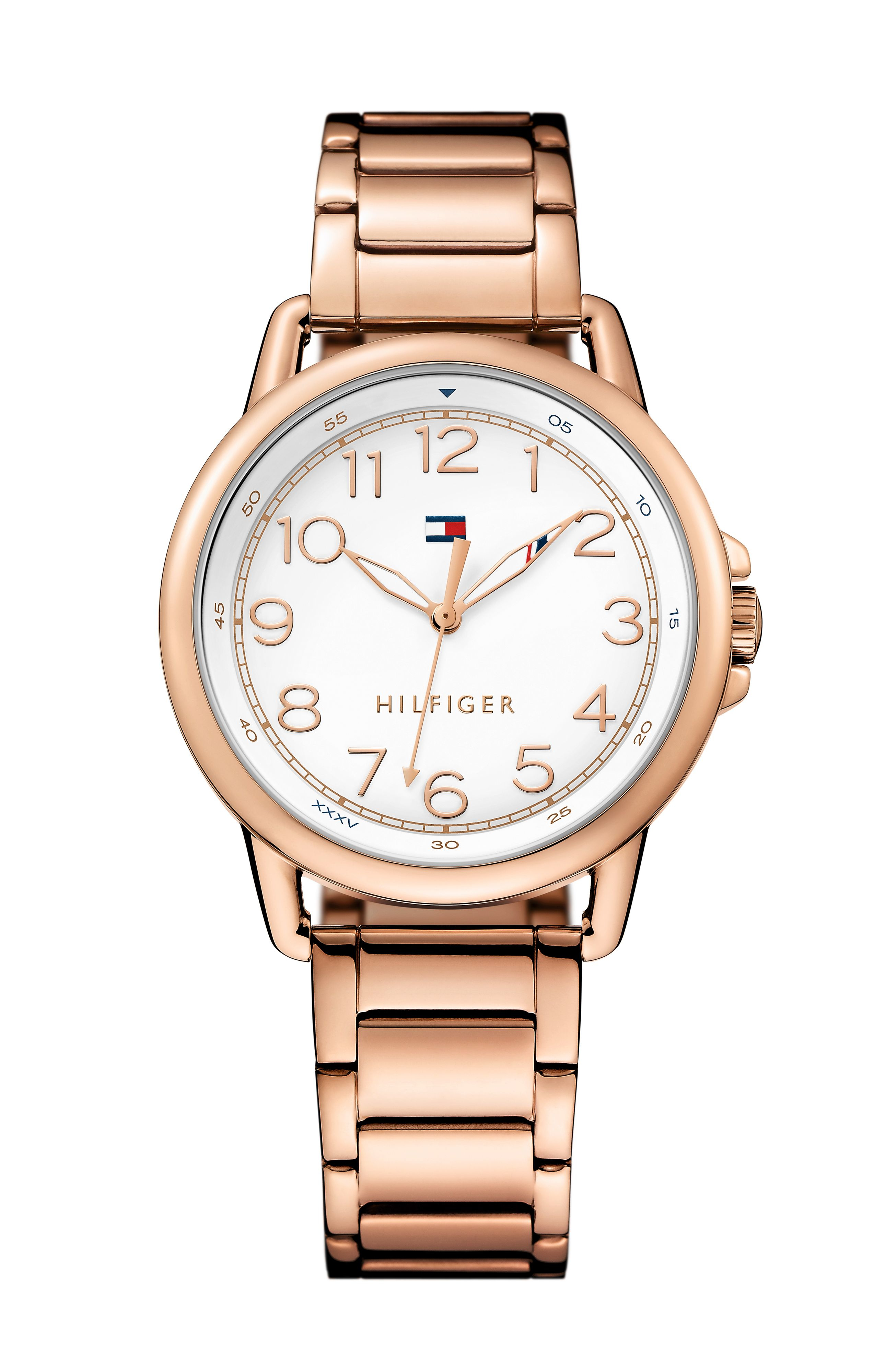tommy hilfiger 1781657 bracelet watch in metallic lyst. Black Bedroom Furniture Sets. Home Design Ideas