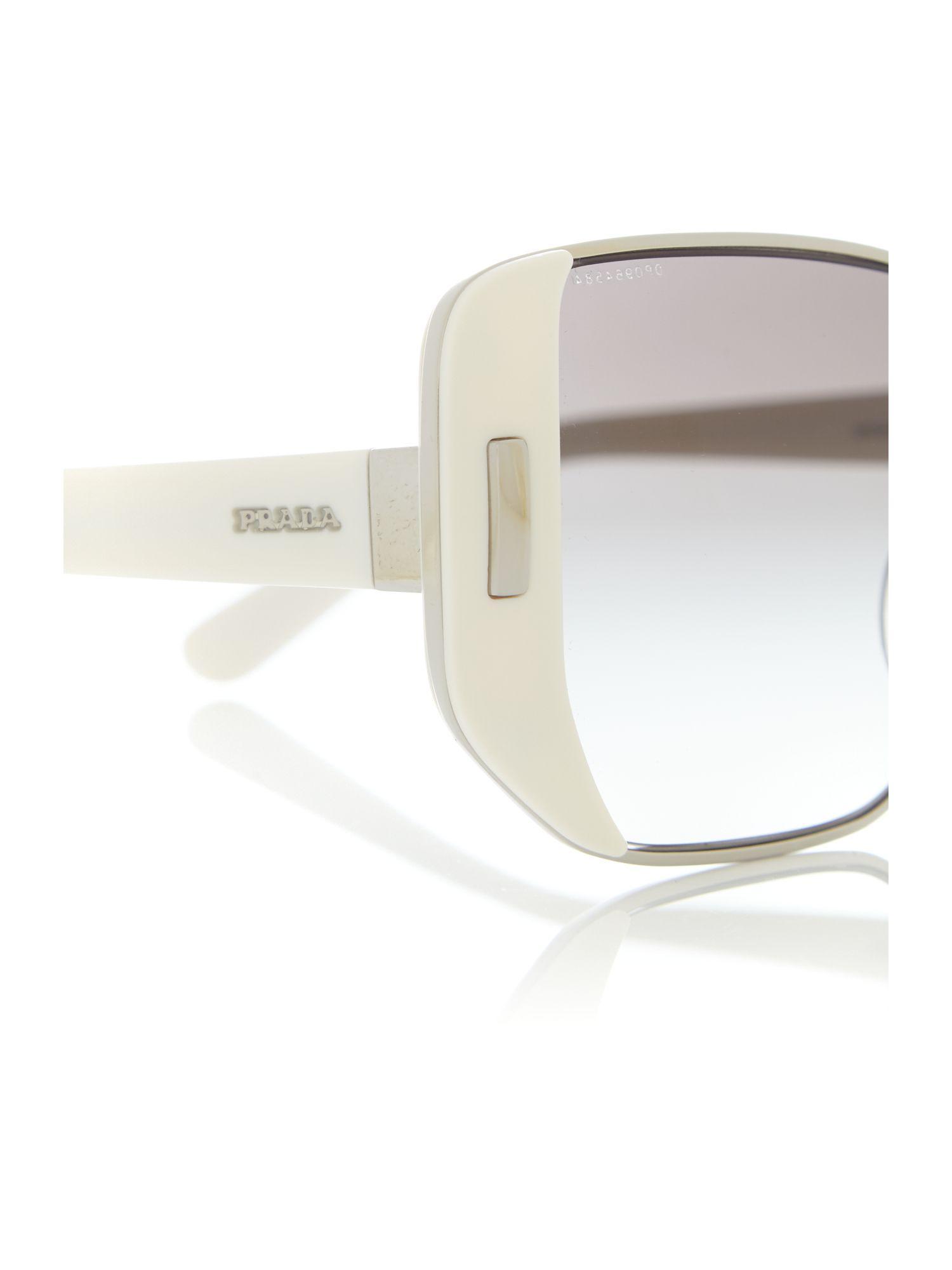 Prada Ivory Rectangle 0pr 59ss Sunglasses