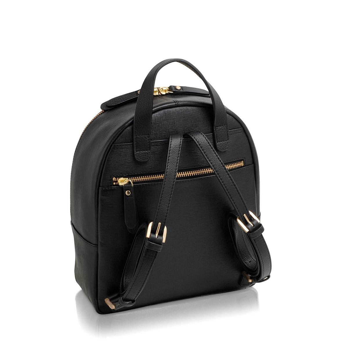 Radley Leather Herbarium Black Medium Backpack