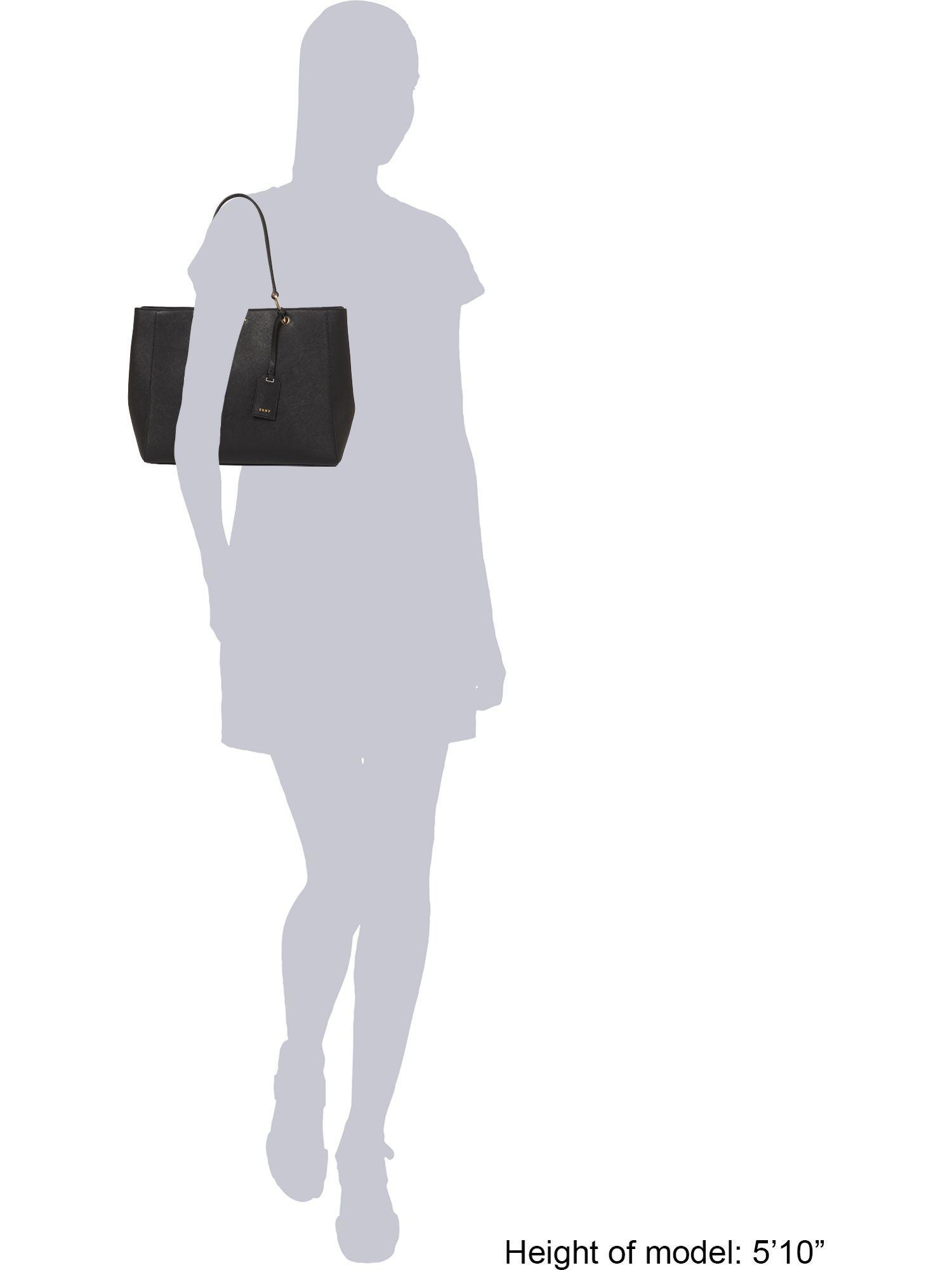 DKNY Leather Saffiano Black Tote Shoulder Bag