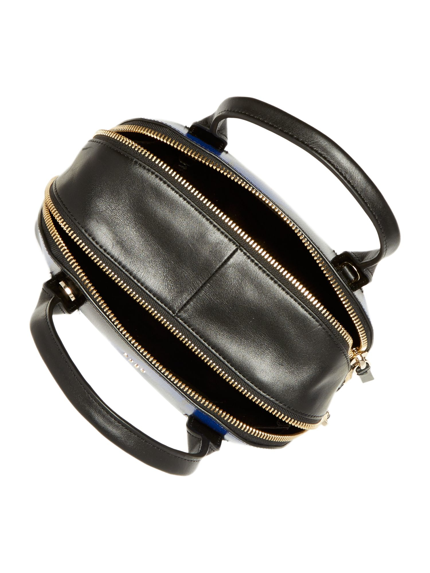DKNY Leather Cosmic Rose Multi Crosshatch Dome Bag