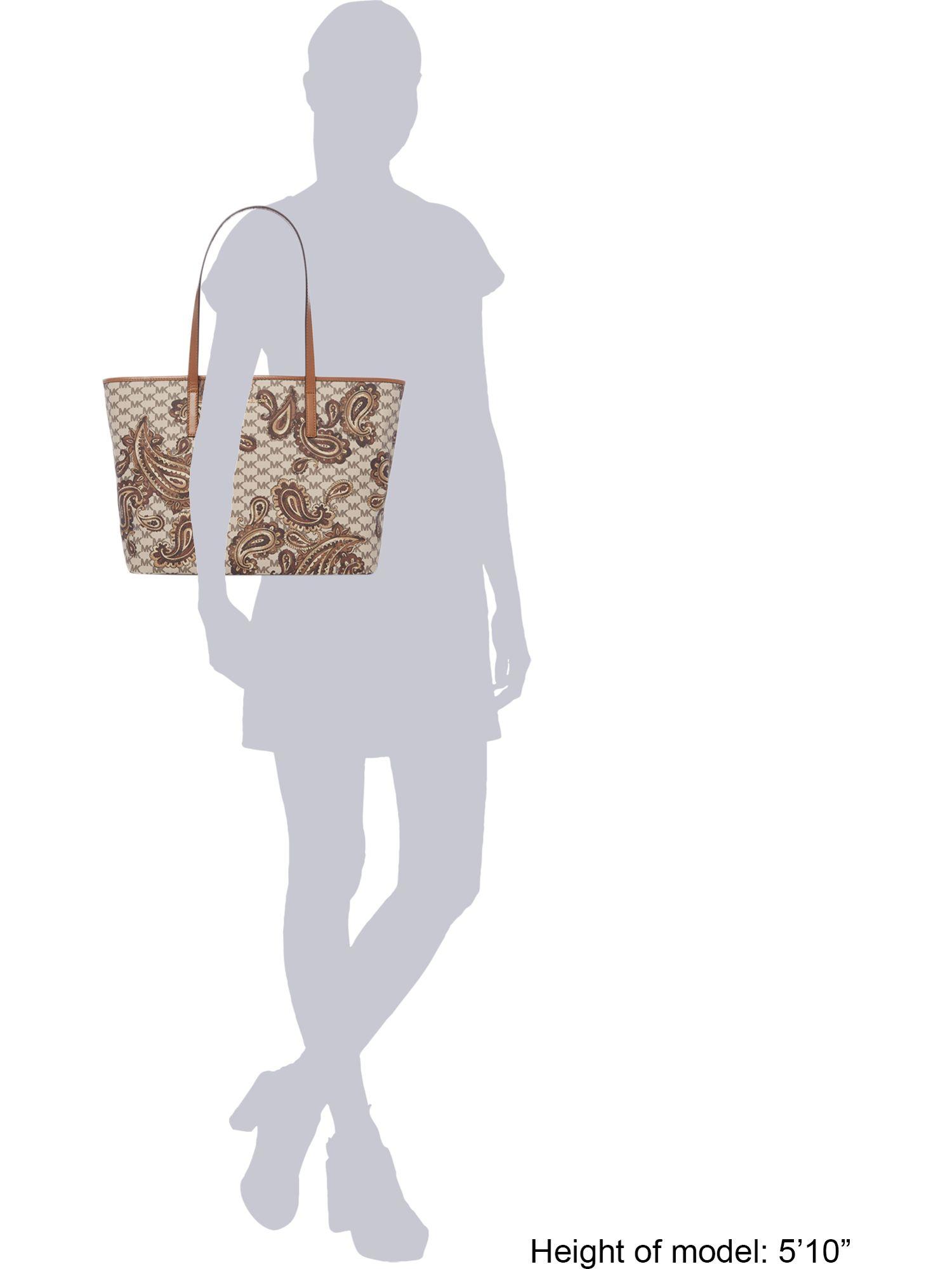 Michael Kors Paisley Tan Large Tote Bag