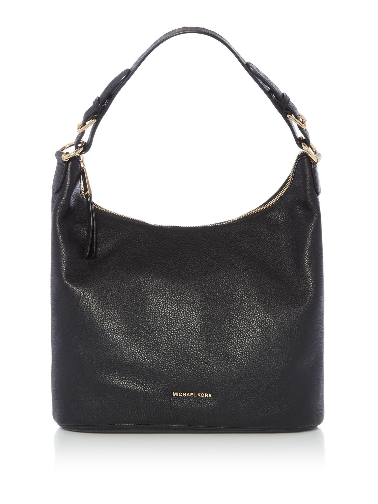 Michael Kors Lupita Black Large Hobo Bag In Black Lyst