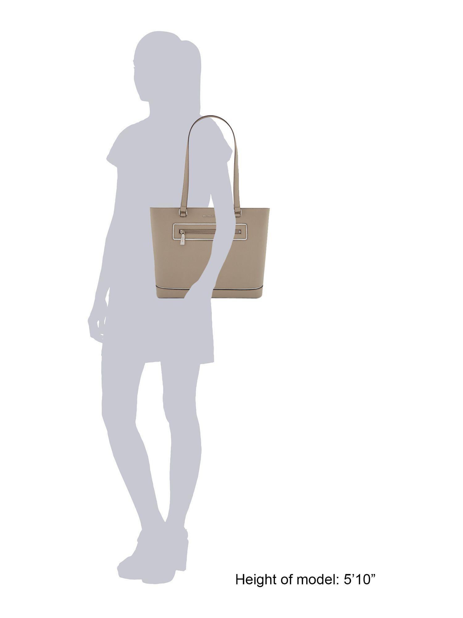 Michael Kors Frame Out Item Grey Large Tote Bag in Grey