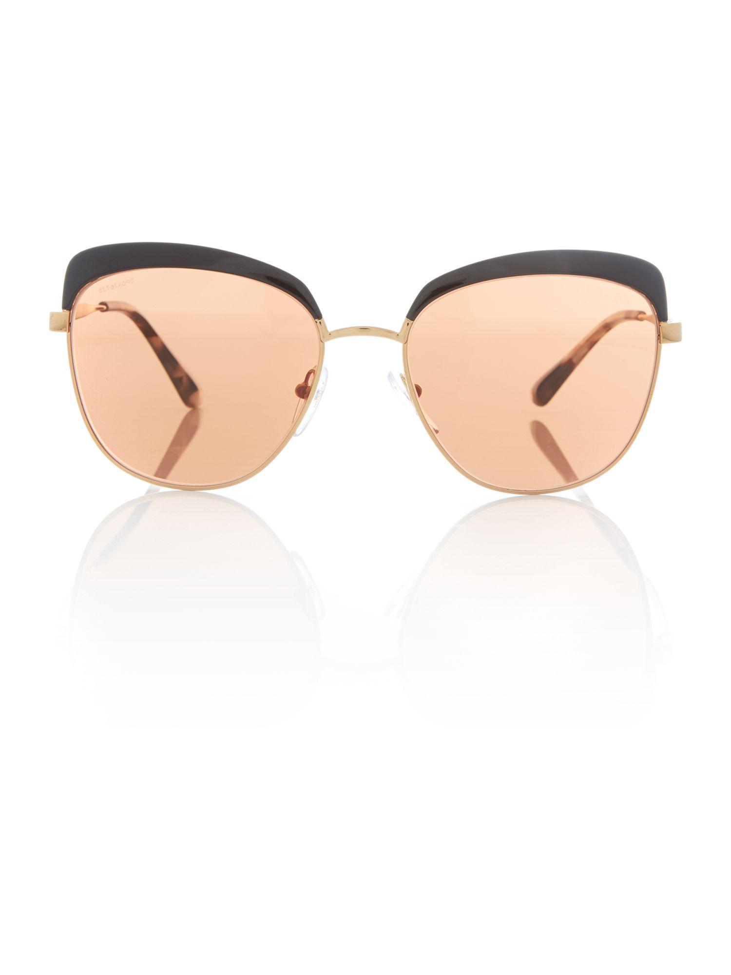 Prada Silver Square Pr 51ts Sunglasses