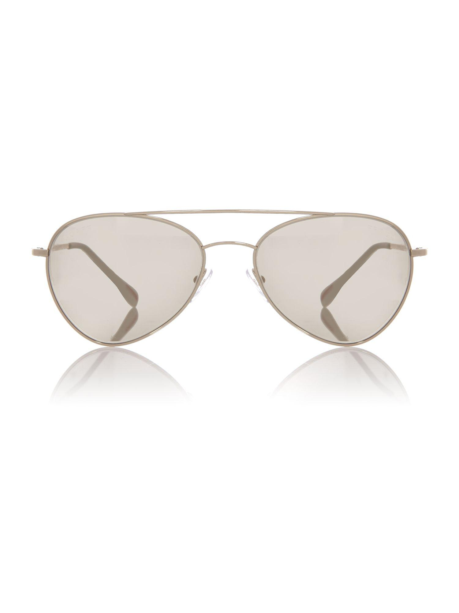 Prada Gold Phantos Ps 50ss Sunglasses in Metallic