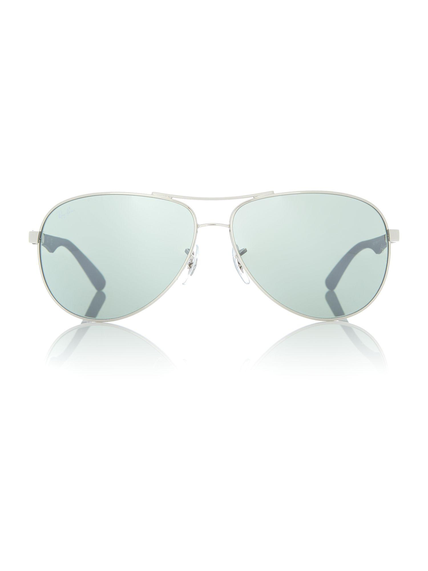 Ray-Ban Silver Rb8313 Pilot Sunglasses for Men