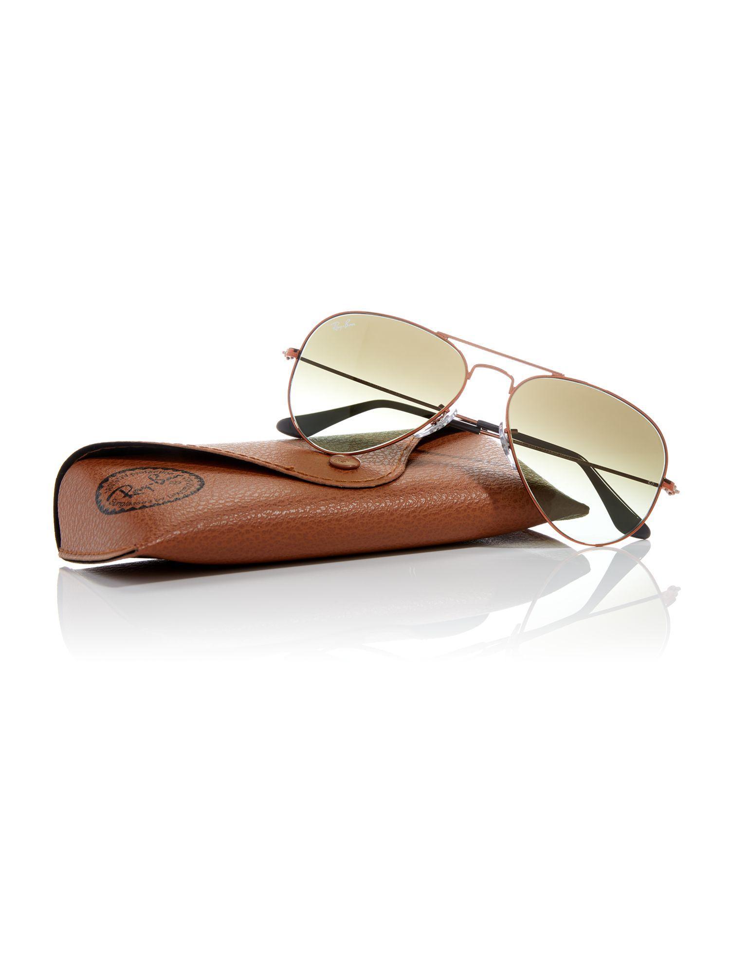 Ray-Ban Bronze Rb3025 Aviator Pilot Sunglasses for Men