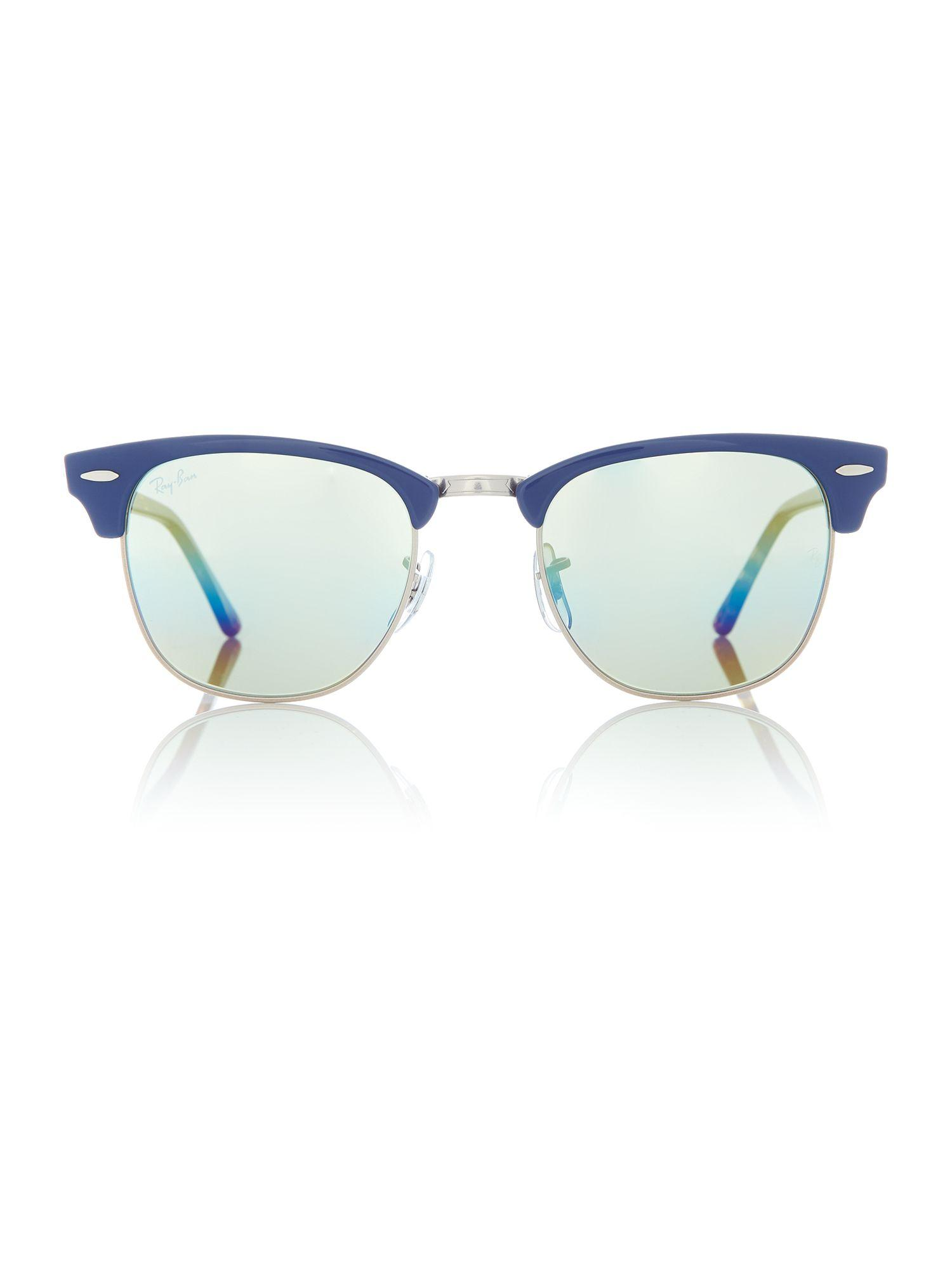 Ray-Ban Bronze Rb3016 Clubmaster Sunglasses in Blue for Men