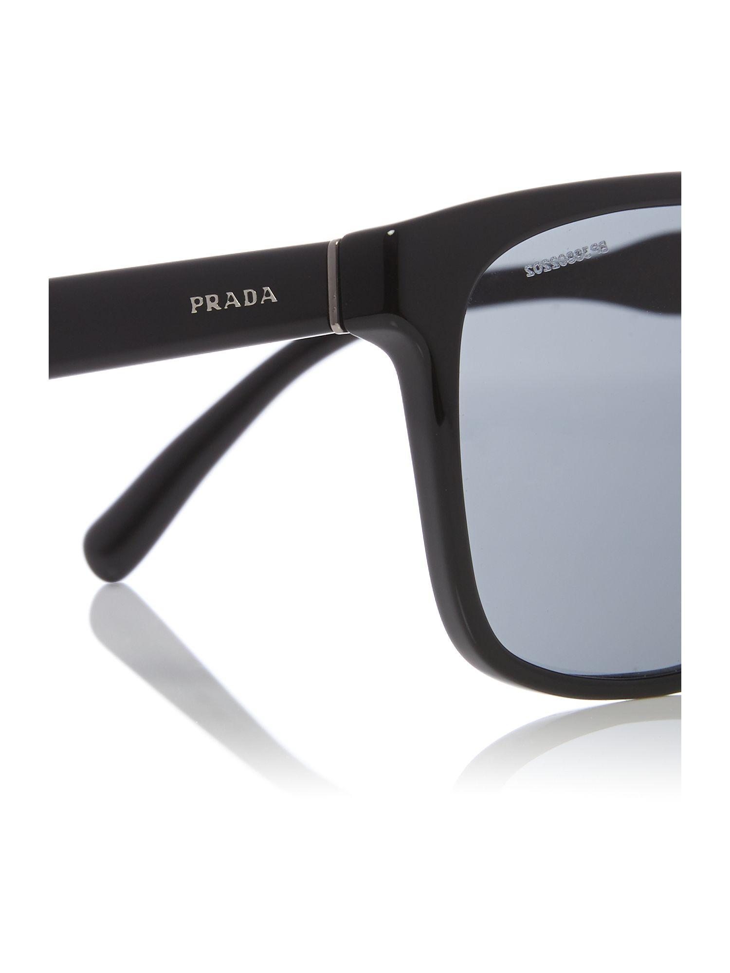 Prada Black Pr 14ts Rectangle Sunglasses