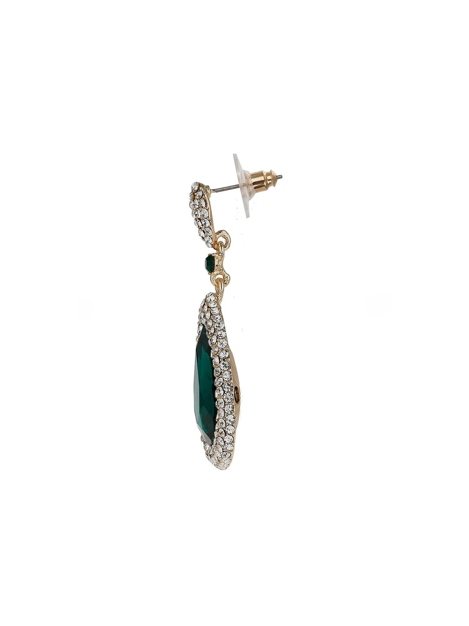 Mikey Large Cubic Centre Edged Drop Earring