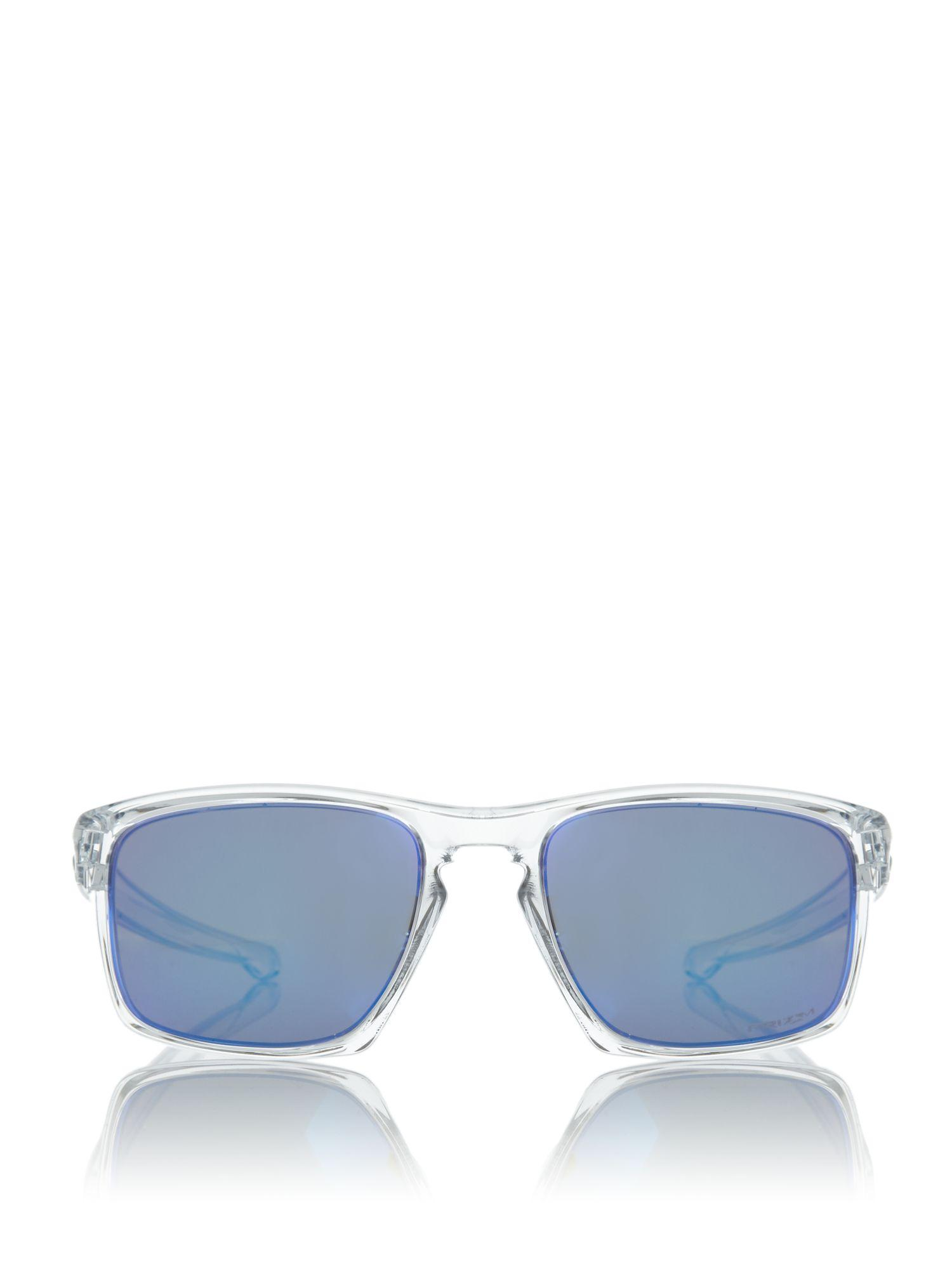 Oakley Polished Clear Oo9262 Sliver Rectangle Sunglasses in Blue for Men