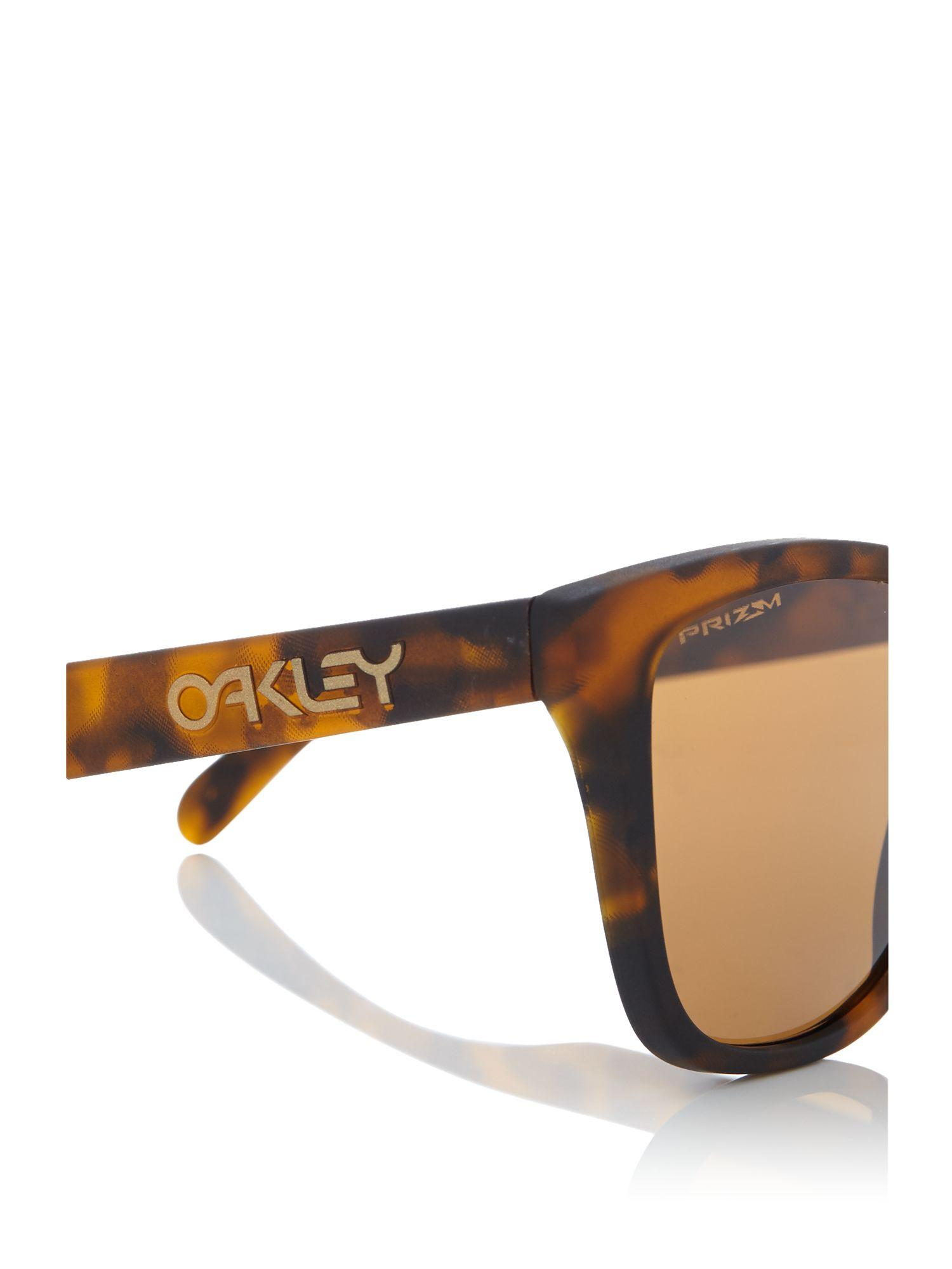 Oakley Matte Tortoise Oo9013 Frogskins Square Sunglasses in Brown