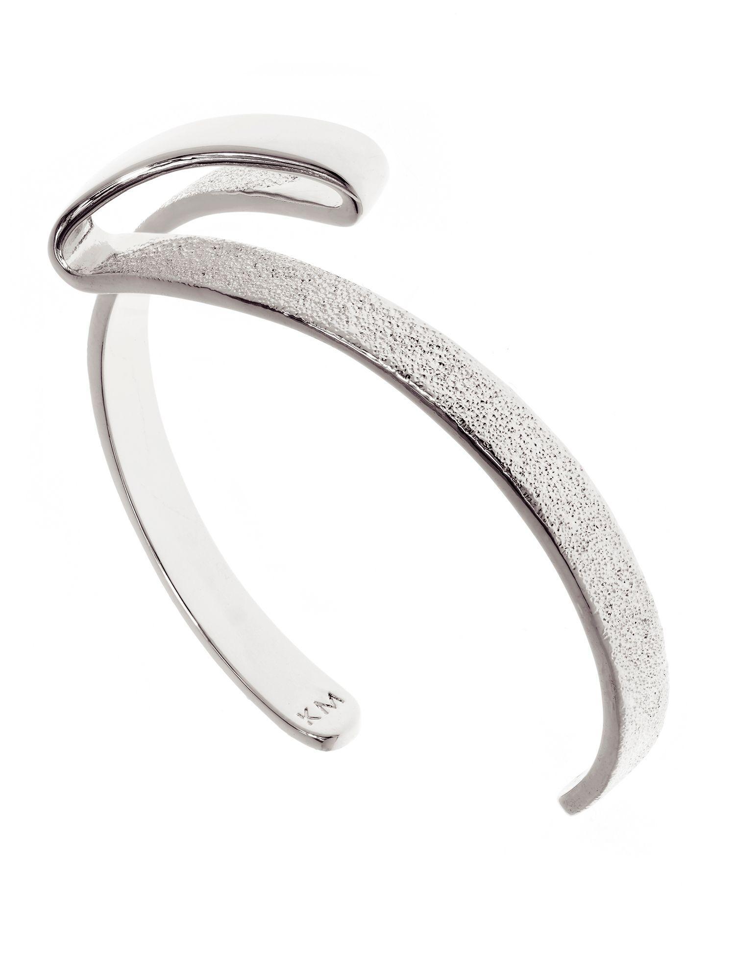 Karen Millen Folded Cuff in Metallic
