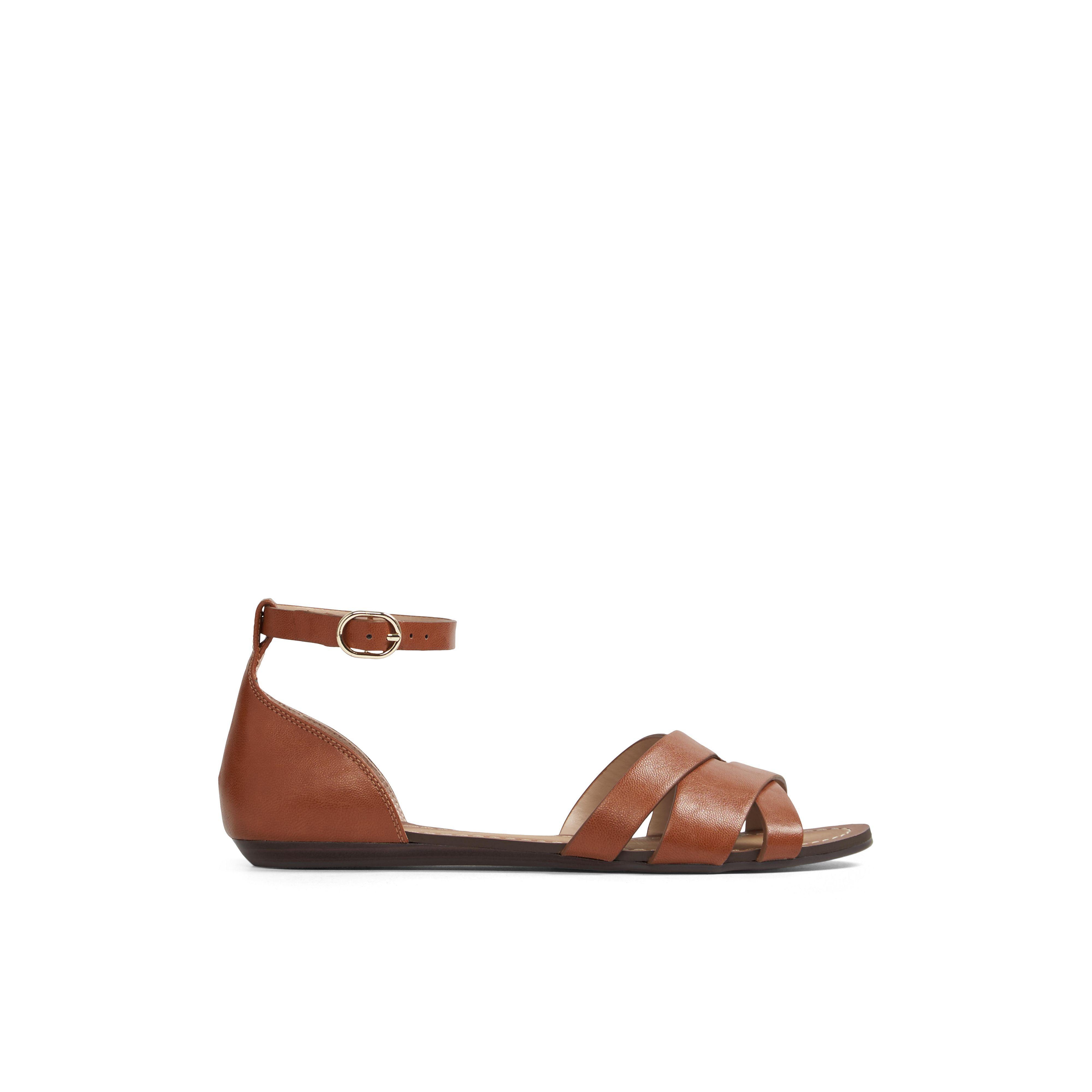 2a574a1fbcf99 Aldo Rozie Flat Sandal in Brown - Lyst